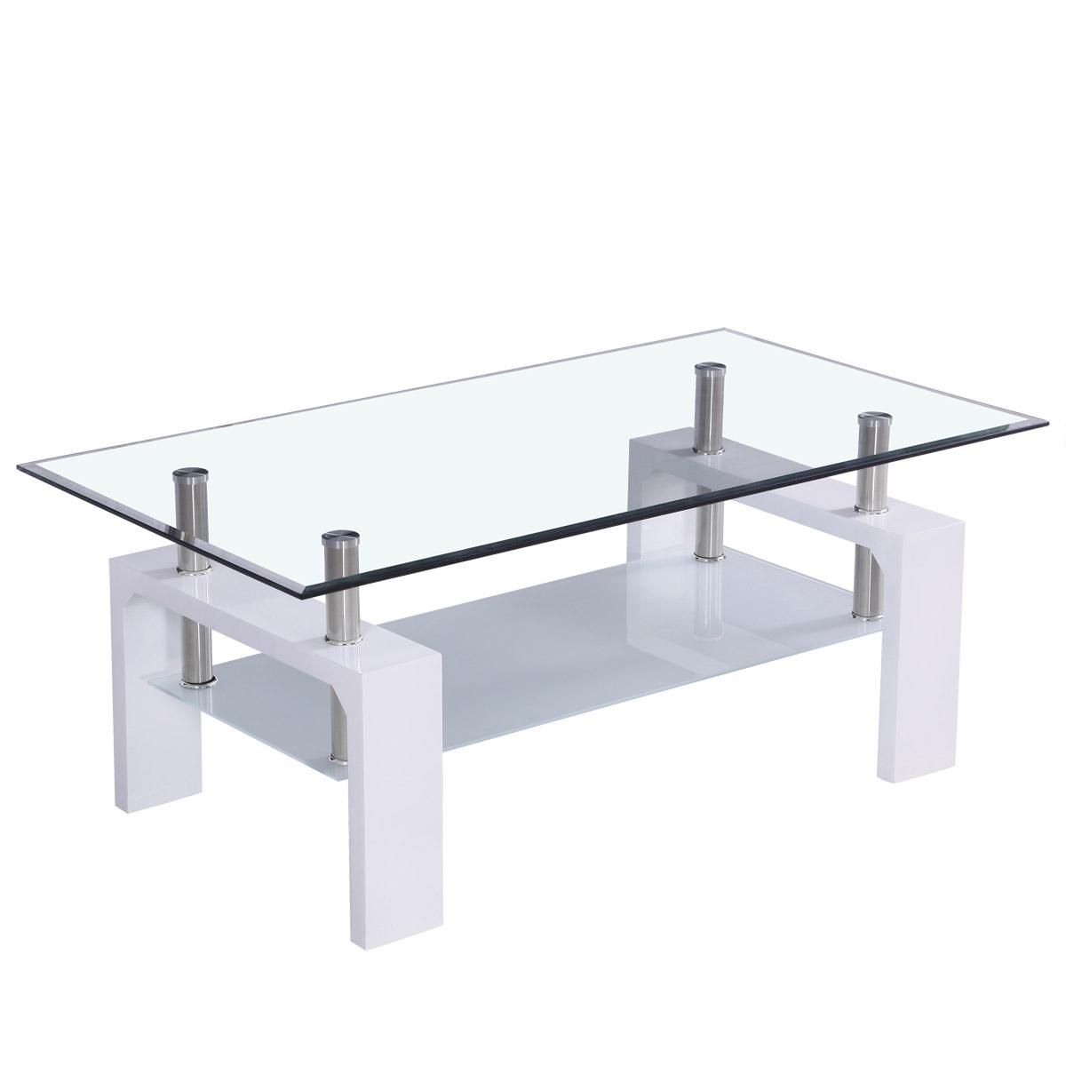 corium couchtisch tisch glastisch weiss beistelltisch wohnzimmer hochglanz eur 53 90. Black Bedroom Furniture Sets. Home Design Ideas