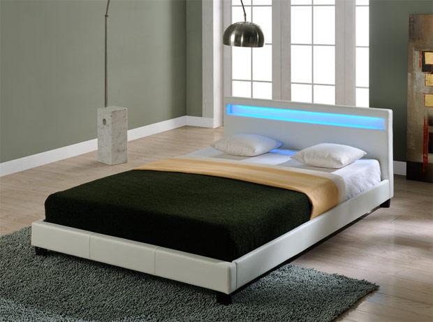corium led polsterbett 140 160 180 x 200cm kunst leder. Black Bedroom Furniture Sets. Home Design Ideas