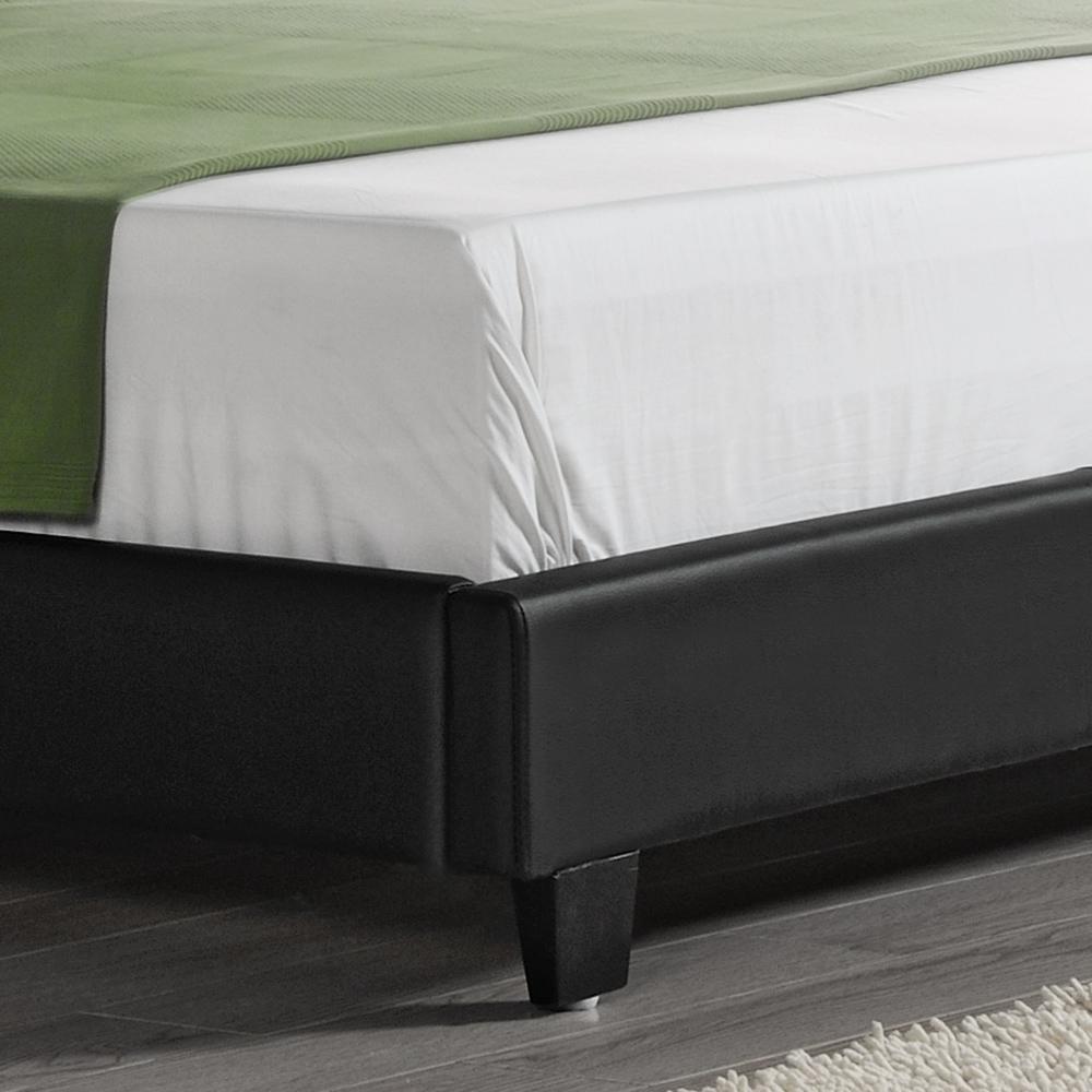 Corium design polsterbett mit matratze 180 x 200 cm kunst for Bett schwarz