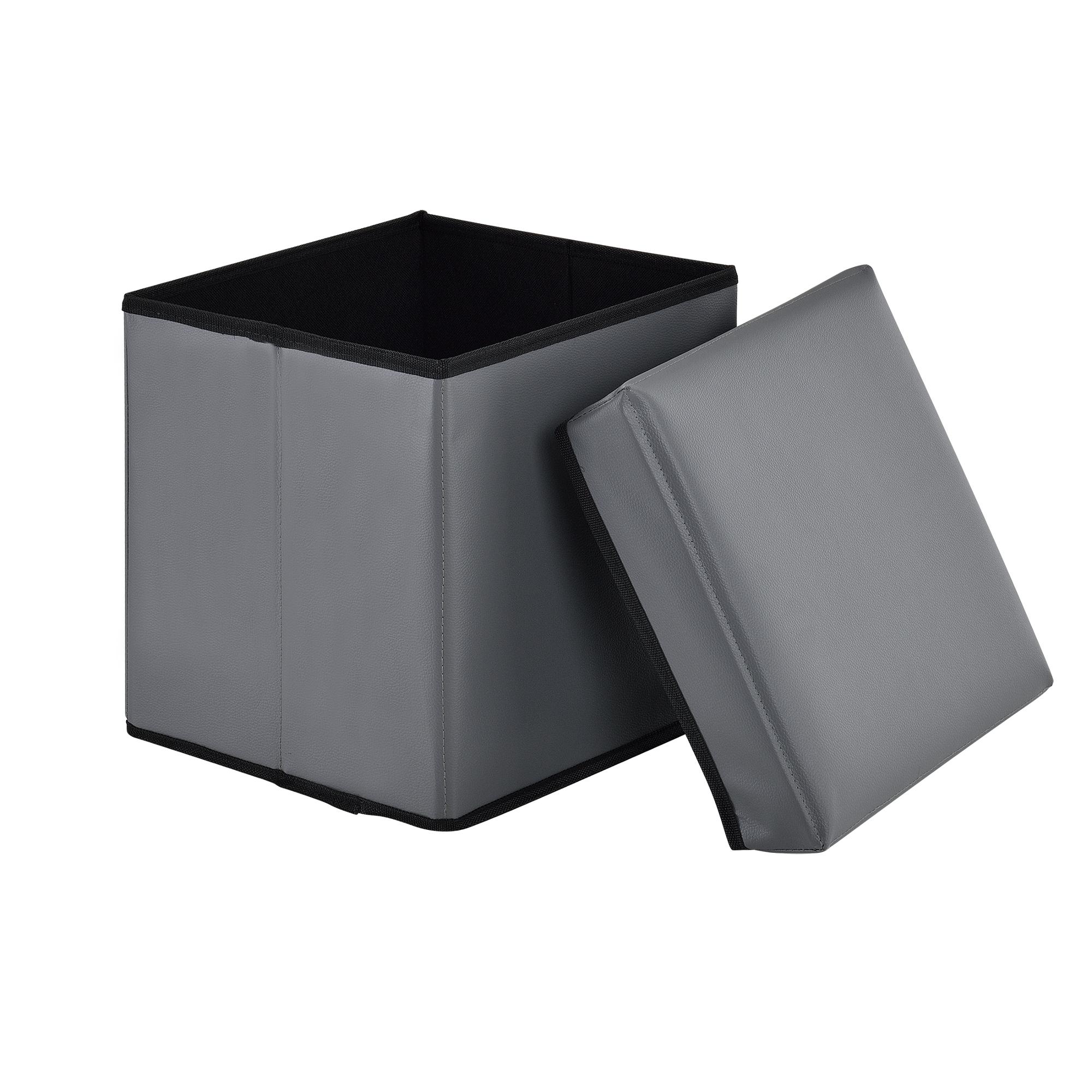 Détails sur [En.casa] Pliable Tabouret Cube Boîte de Conservation Coffre  Banque
