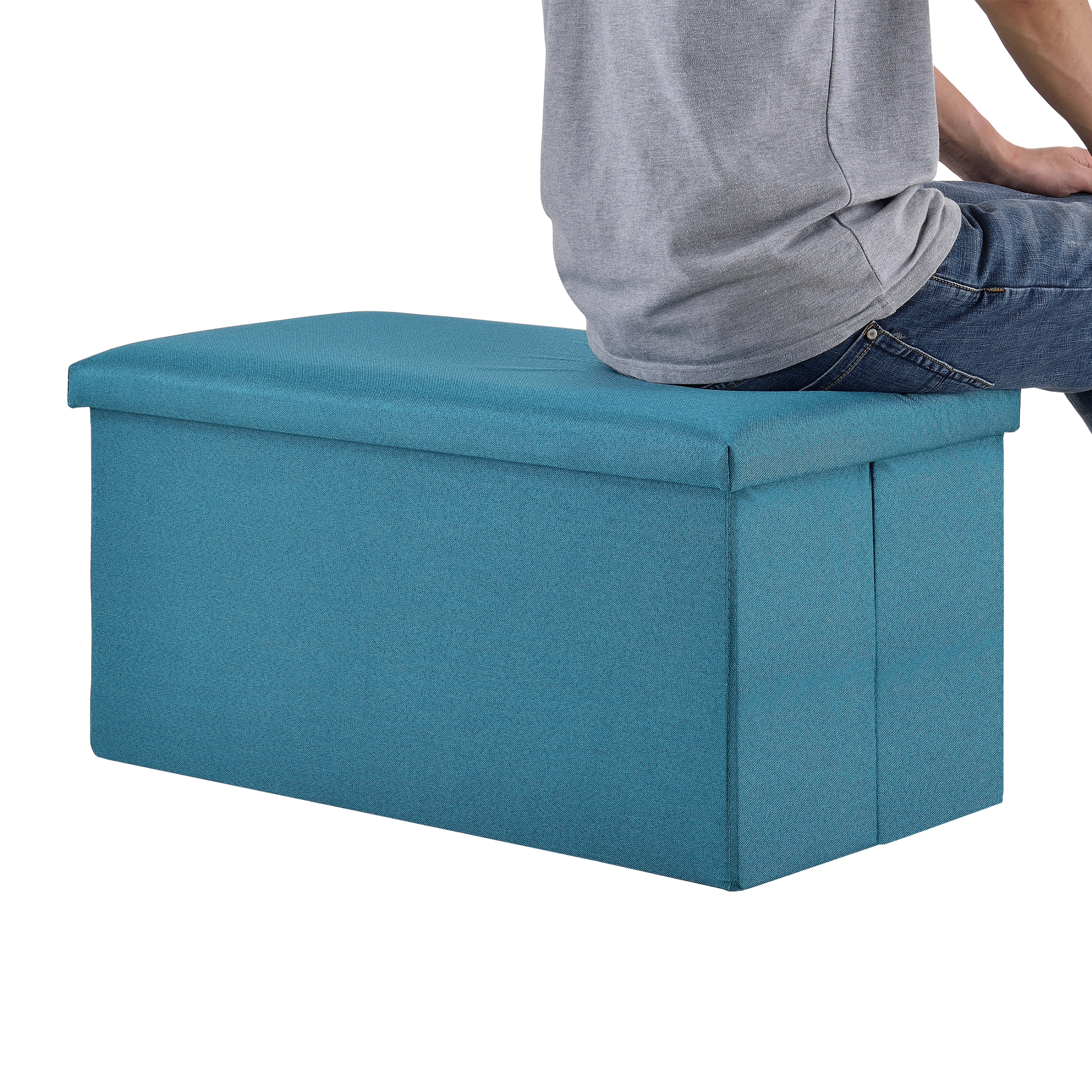 En Casa Ottoman Seat Chest 76x38x38cm Folding Box