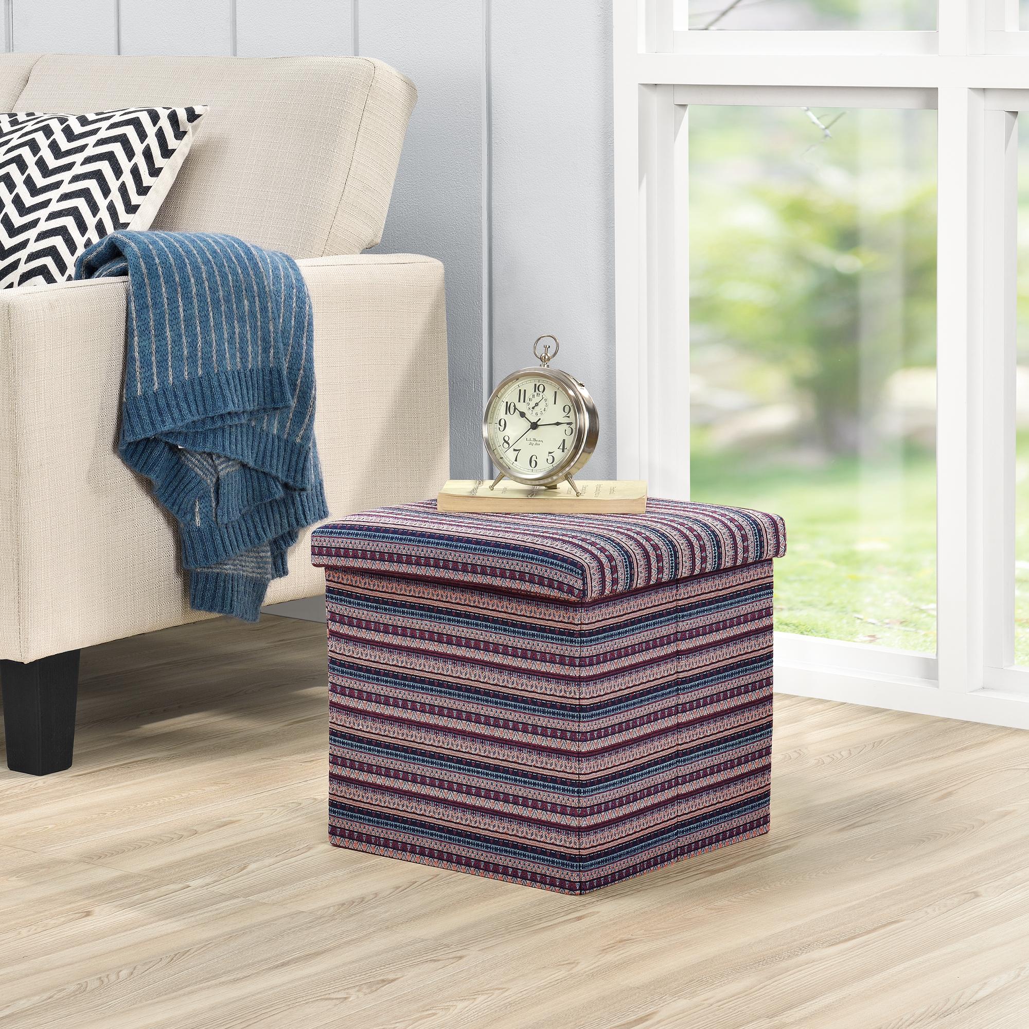 banc de rangement 38x38x38cm multicolore porte pieds ebay. Black Bedroom Furniture Sets. Home Design Ideas