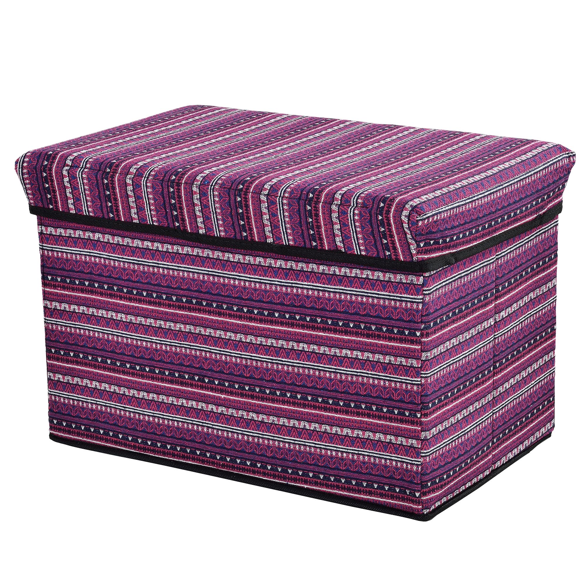 banc de rangement 48x32x32cm multicolore porte pieds ebay. Black Bedroom Furniture Sets. Home Design Ideas