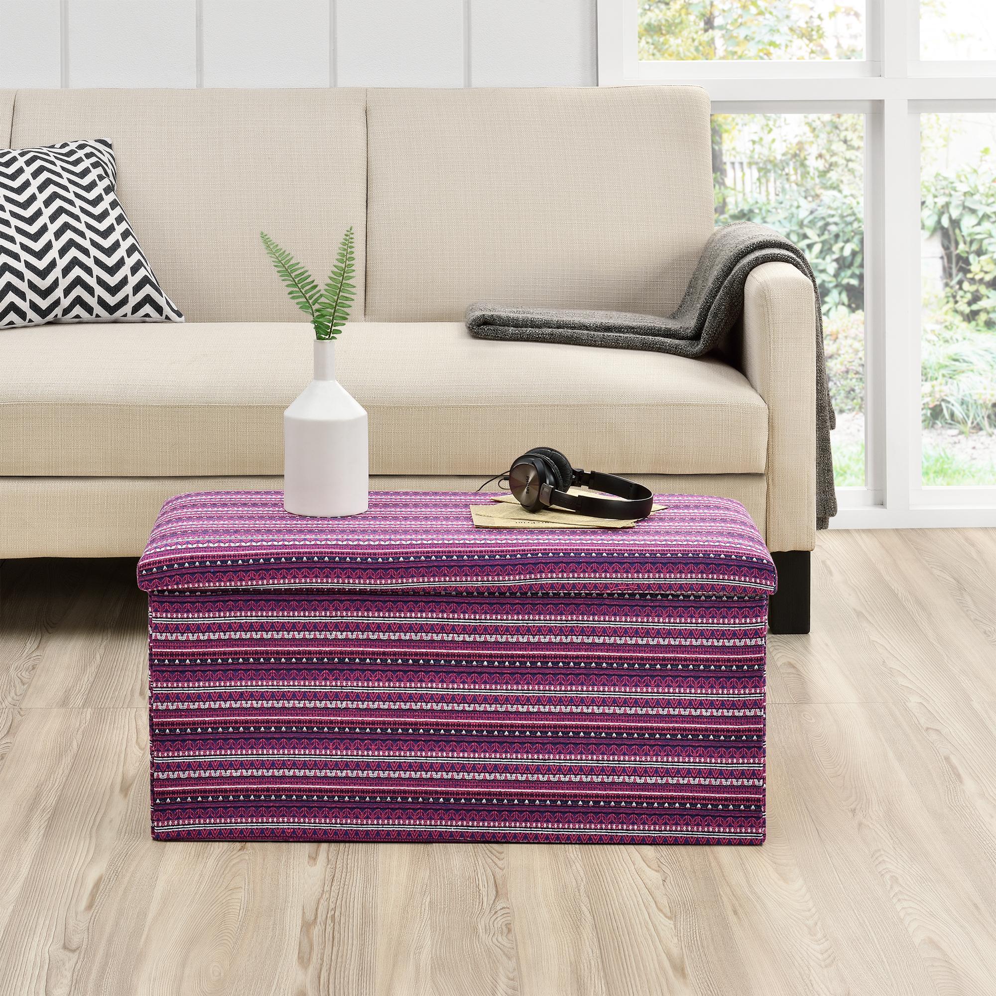 banc de rangement 76x38x38cm multicolore porte pieds ebay. Black Bedroom Furniture Sets. Home Design Ideas