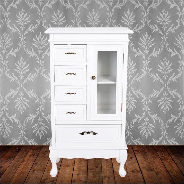 neuholz kommode konsole glas schrank wei antik look. Black Bedroom Furniture Sets. Home Design Ideas
