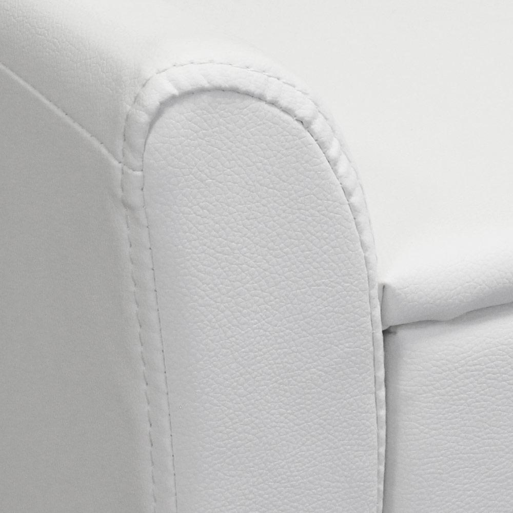 corium nachttisch mit schublade wei kunstleder nachtkommode beistelltisch ebay