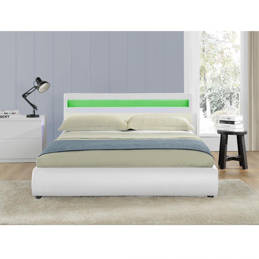 corium led polsterbett 140 160 180 x 200cm doppel ehe. Black Bedroom Furniture Sets. Home Design Ideas
