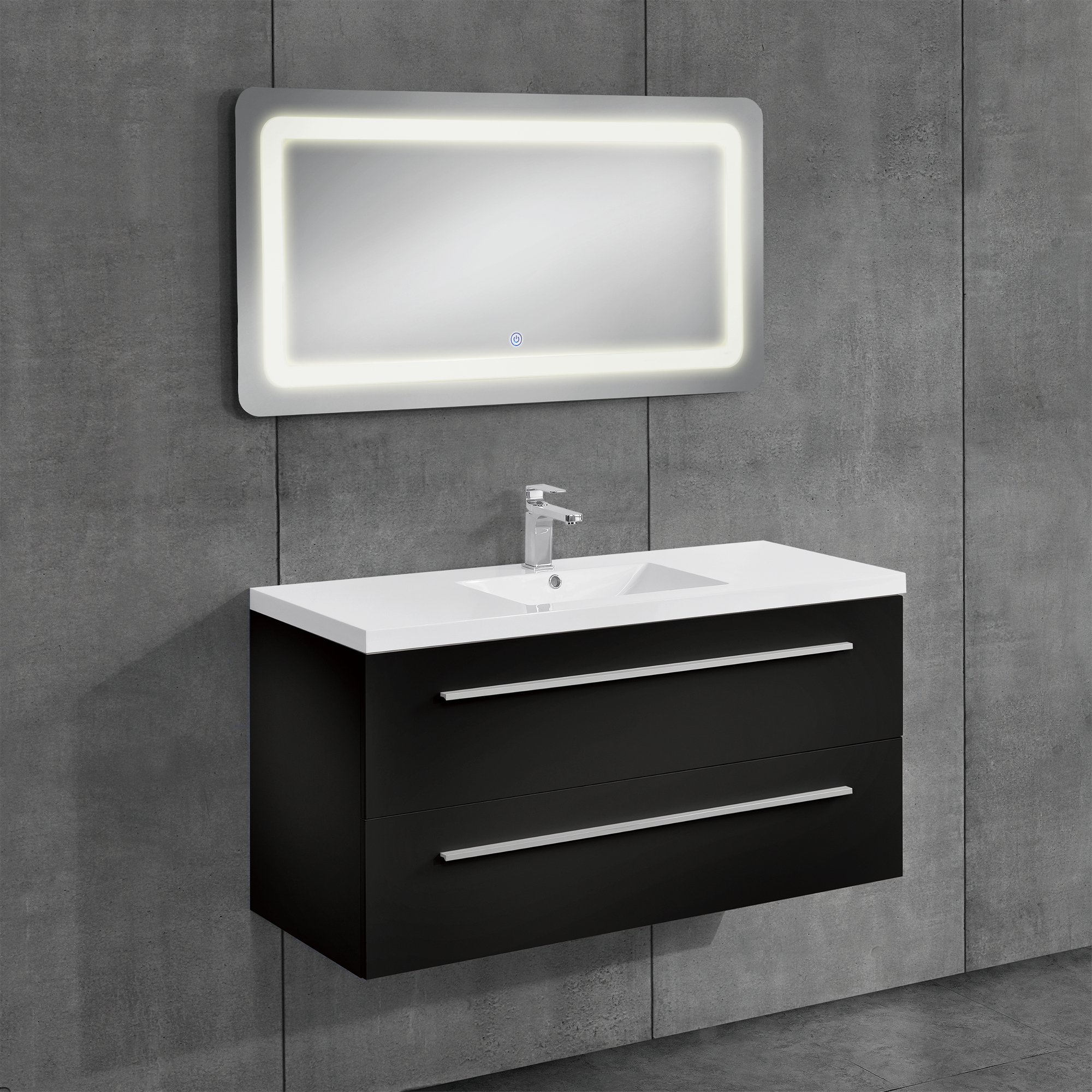 neuhaus armoire de salle bain meuble dessous lavabo noir 60x120cm ebay. Black Bedroom Furniture Sets. Home Design Ideas