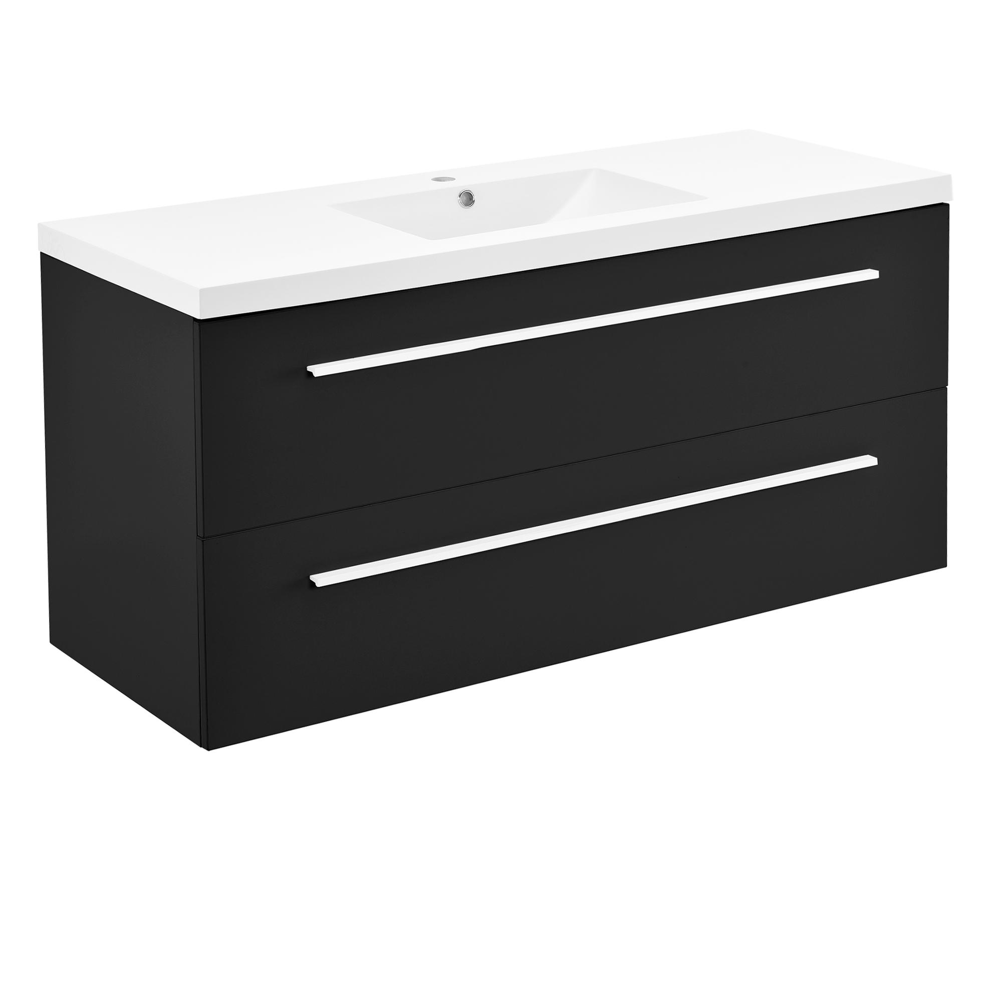 Neuhaus armoire de salle bain meuble dessous lavabo noir for Lavabo noir salle de bain
