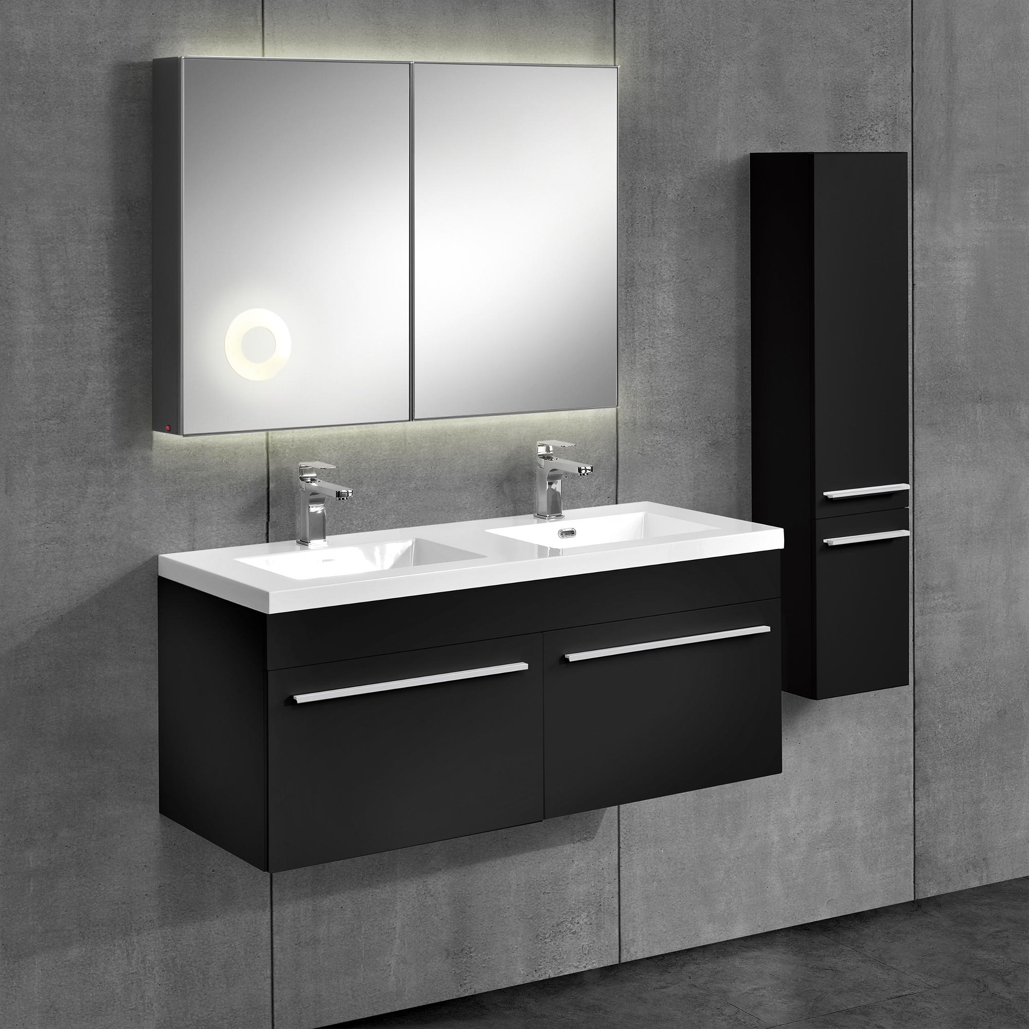 neu.haus] Armario Baño Mueble de espejo armario base Lavabo Alacena ...