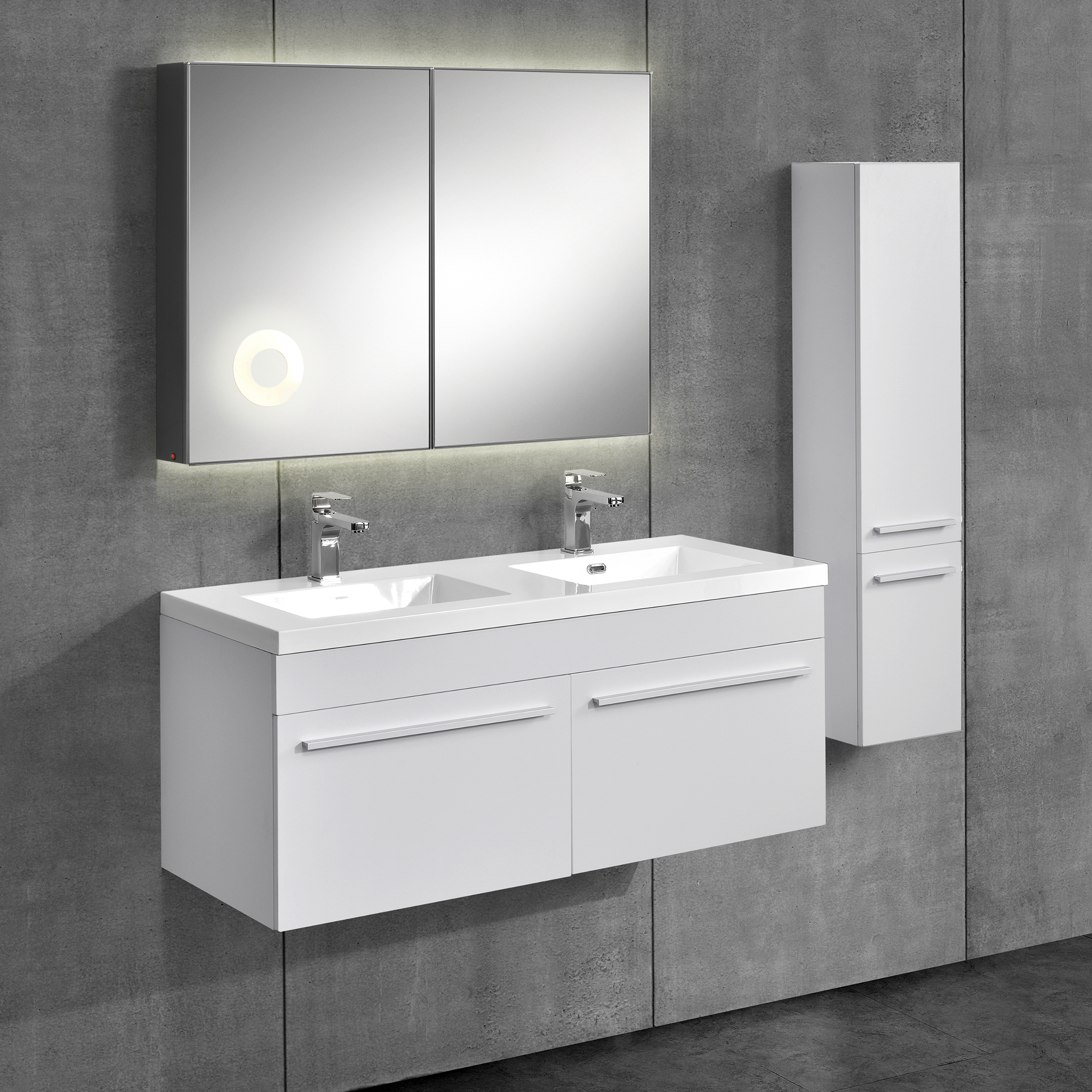 neuhaus armoire de salle bain meuble dessous lavabo blanc ebay. Black Bedroom Furniture Sets. Home Design Ideas