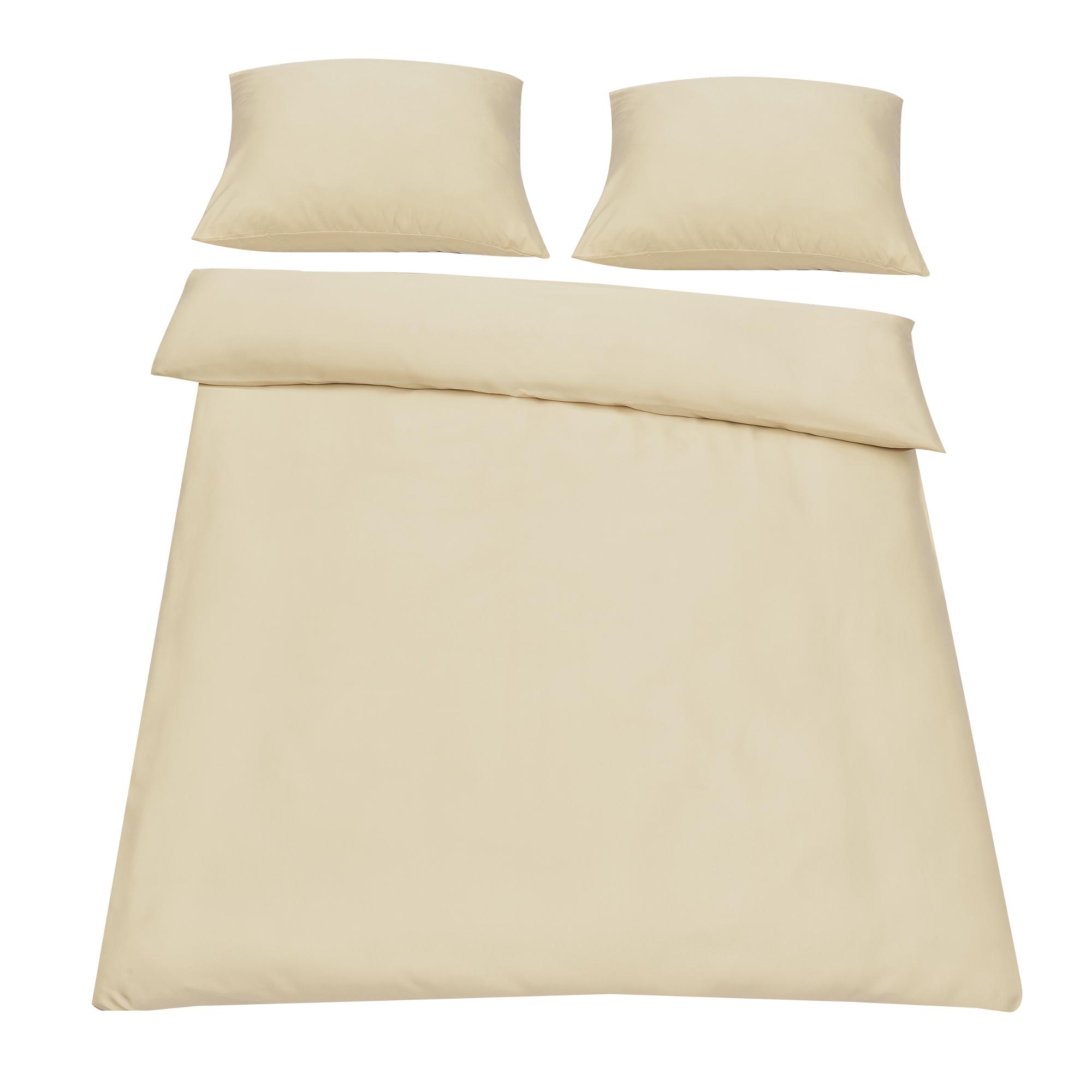 bettw sche 200x200cm beige kissenbezug. Black Bedroom Furniture Sets. Home Design Ideas