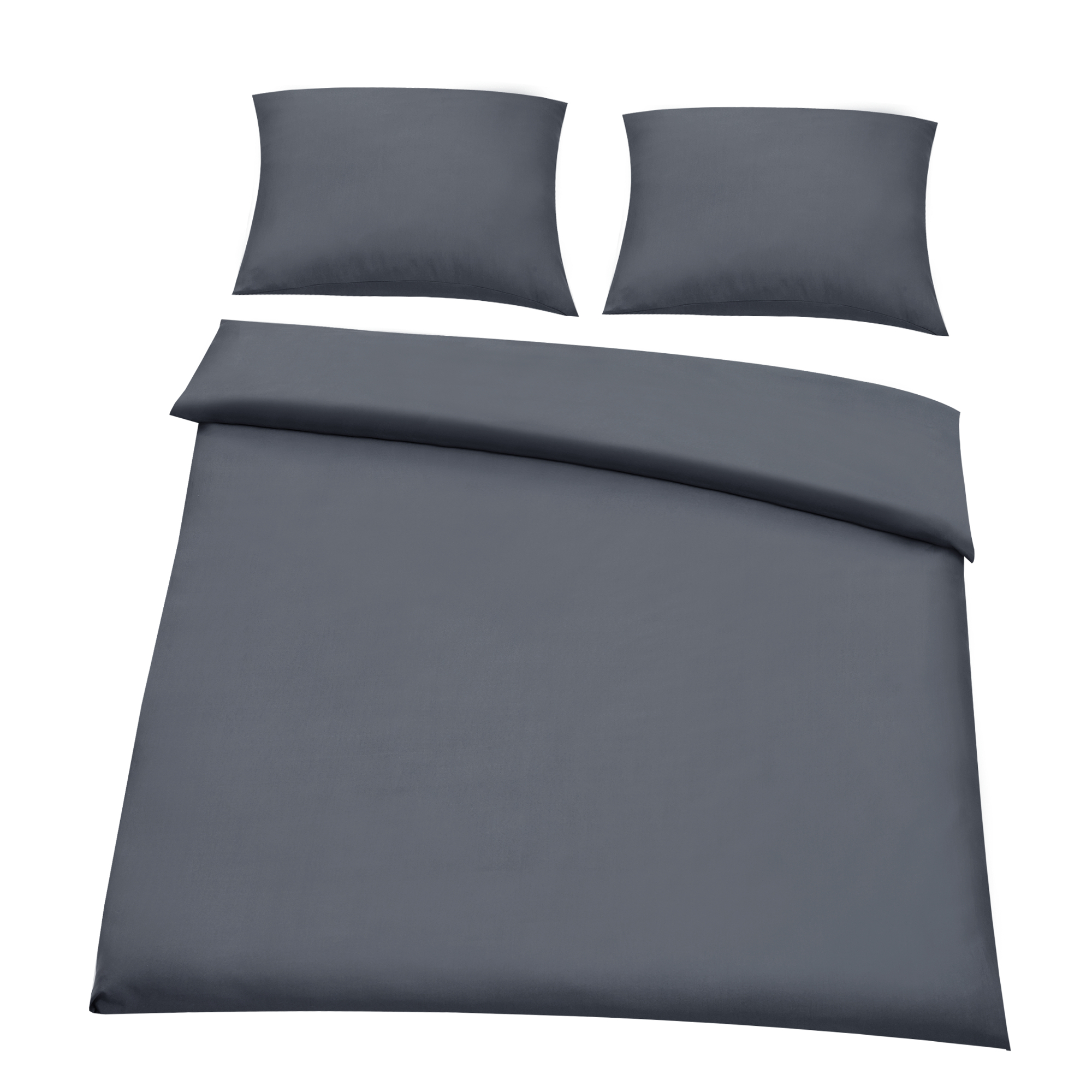 neuhaus drap housse 180 200 x 200 220 cm linge de lit 200 x 200 gris fonc ebay. Black Bedroom Furniture Sets. Home Design Ideas