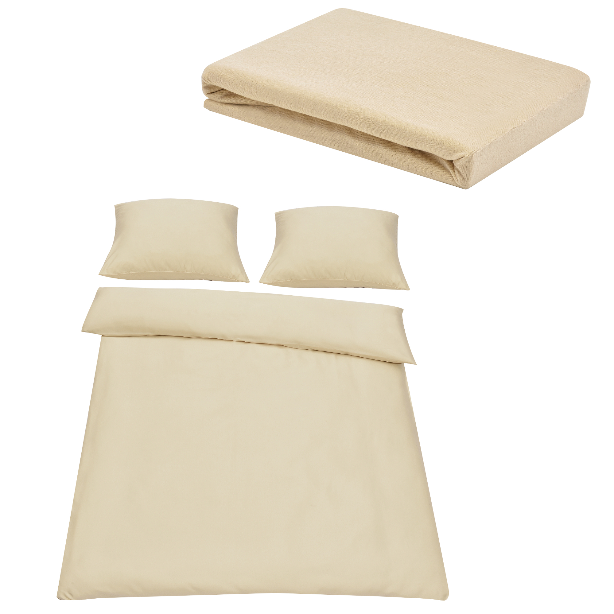 neuhaus drap housse 180 200 x 200 cm linge de lit 200x200 beige cr me ebay. Black Bedroom Furniture Sets. Home Design Ideas