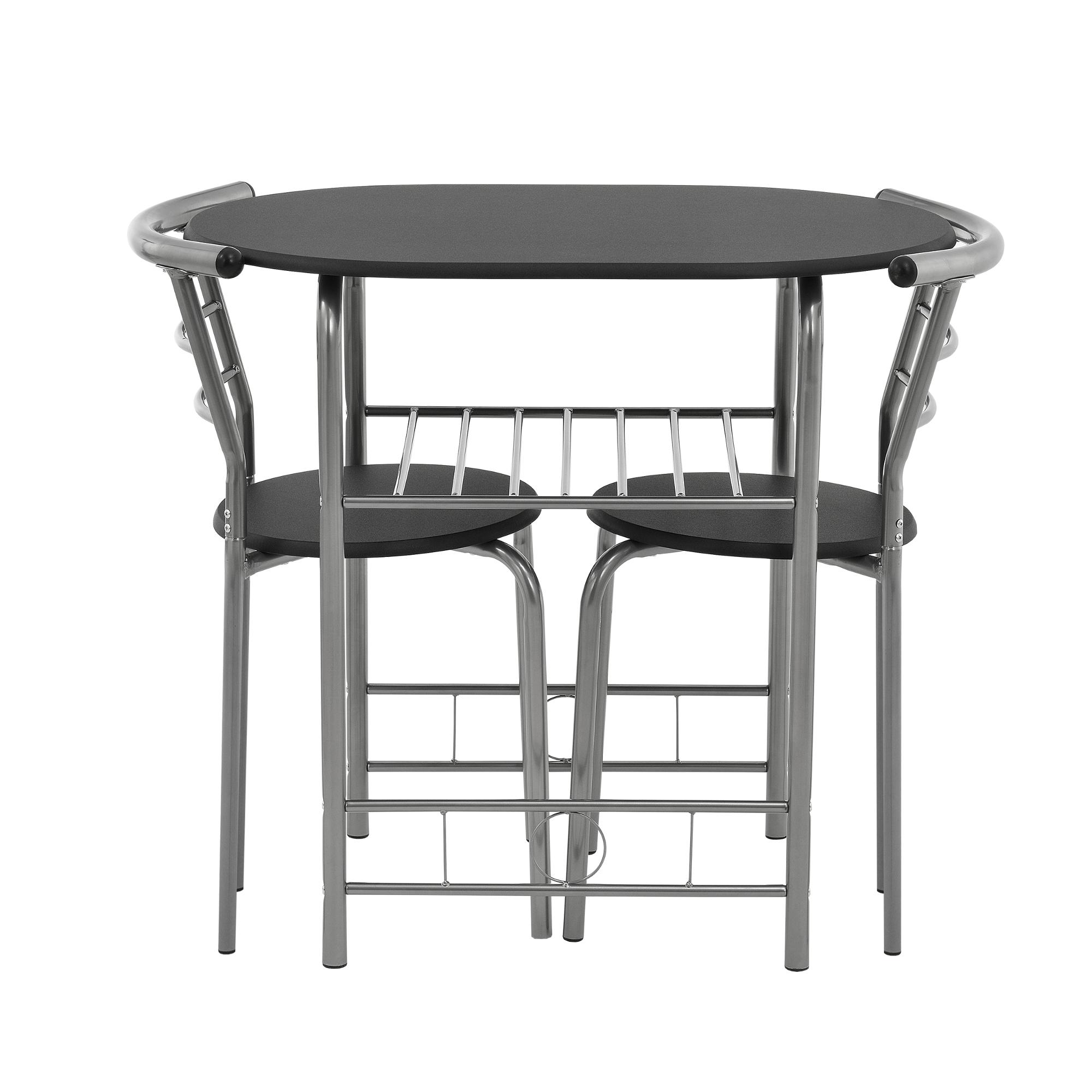 bistro set schwarz grau tisch und stuhlset sitzgruppe esstisch st hle ebay. Black Bedroom Furniture Sets. Home Design Ideas
