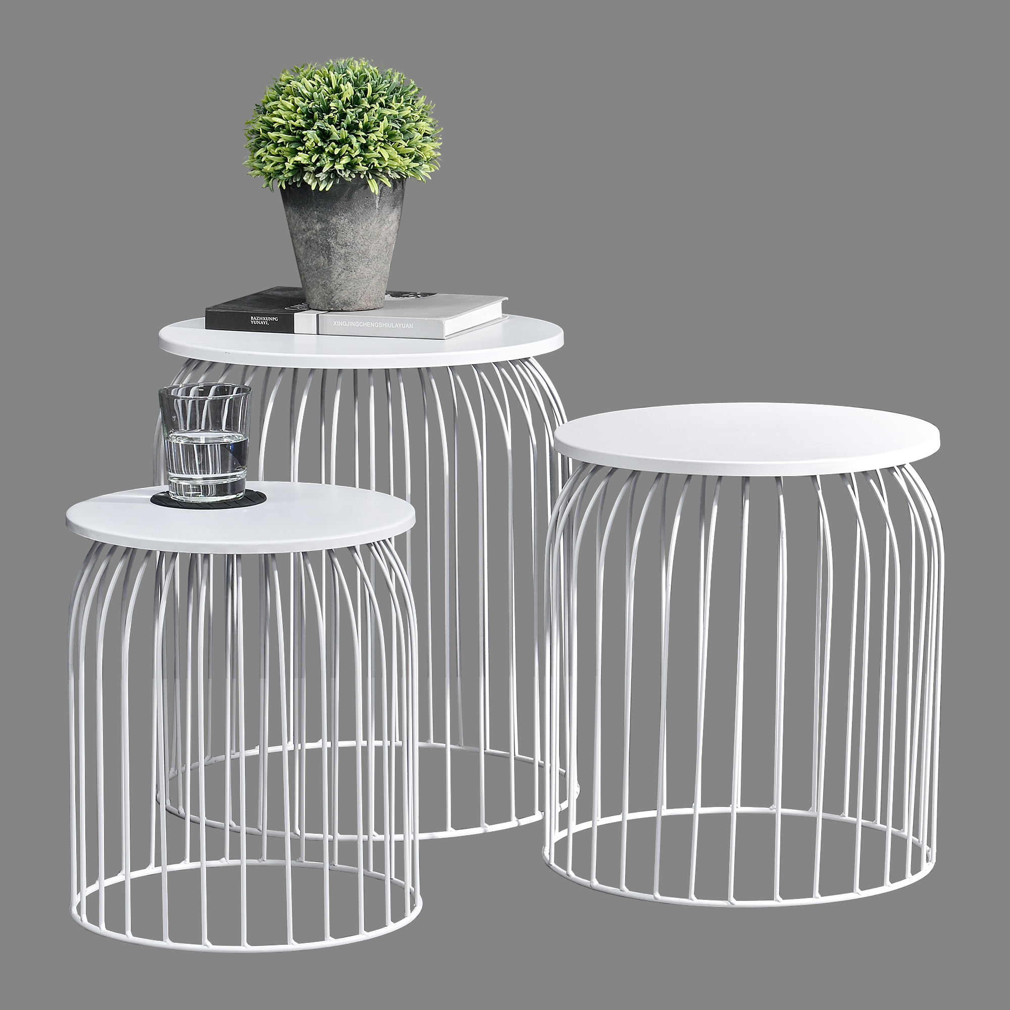 metal basket side table coffee table sofa table. Black Bedroom Furniture Sets. Home Design Ideas