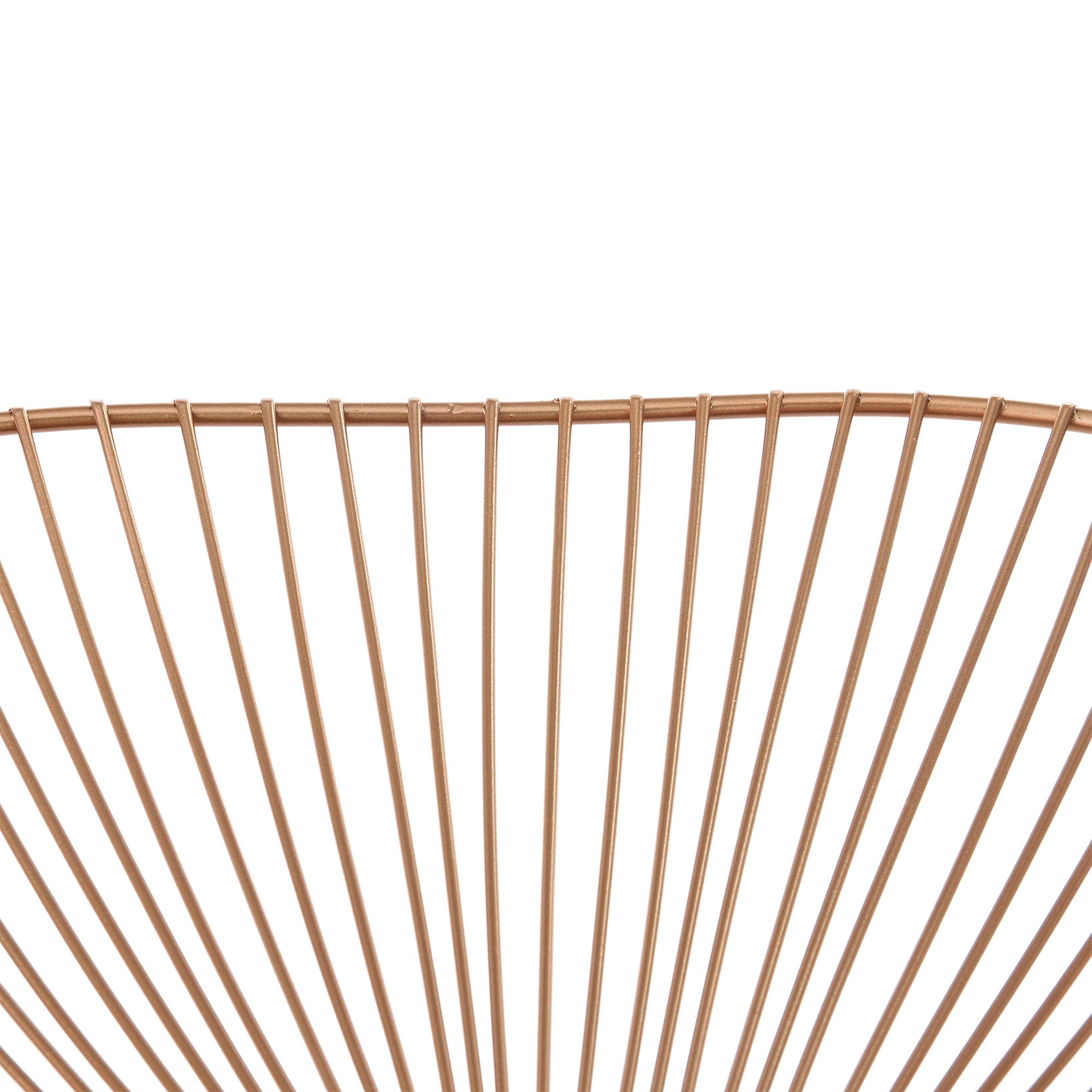 metallschale gitterschale dekoschale obstschale kupferfarben deko ebay. Black Bedroom Furniture Sets. Home Design Ideas