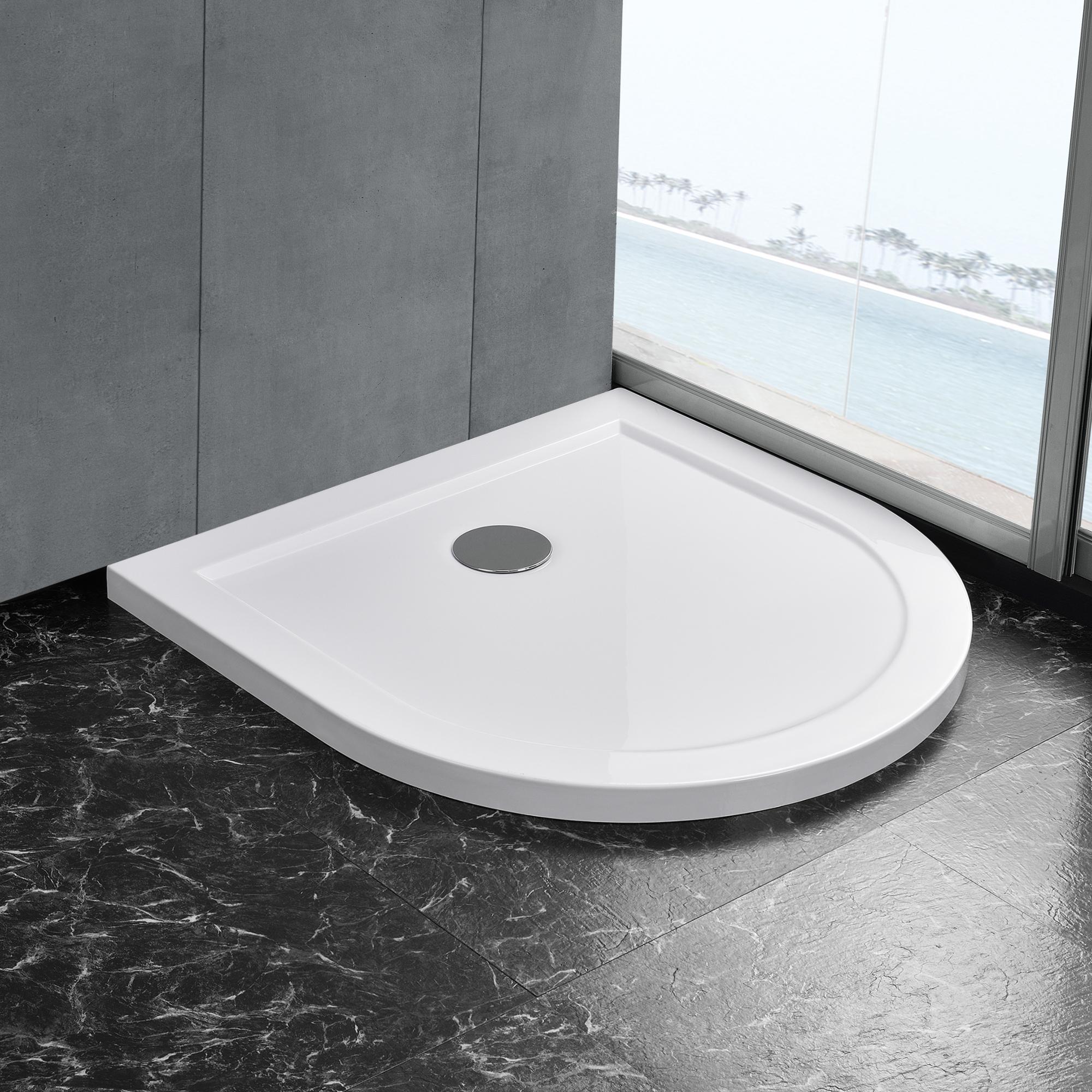 maison bac de douche blanc pur receveur de douche extra plat bain qudrat ebay. Black Bedroom Furniture Sets. Home Design Ideas
