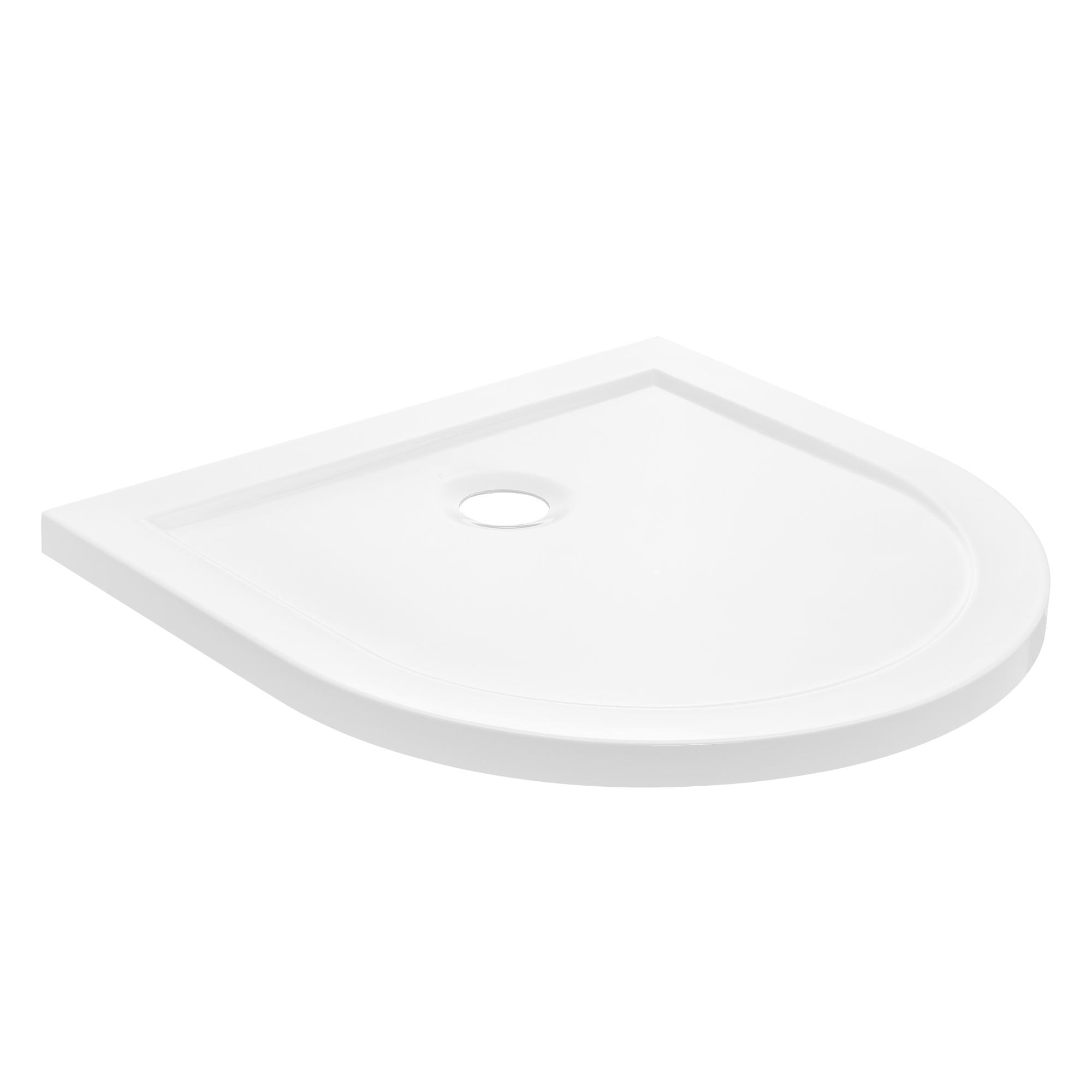[neu.haus]® Sprchová vanička - půlkruhová 80x80x4cm
