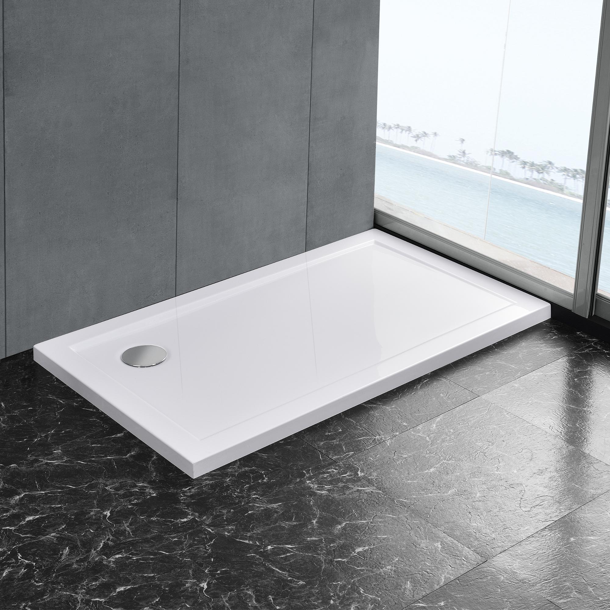 duschwanne reinwei duschtasse extra flach bad qudrat rechteck u form ebay. Black Bedroom Furniture Sets. Home Design Ideas