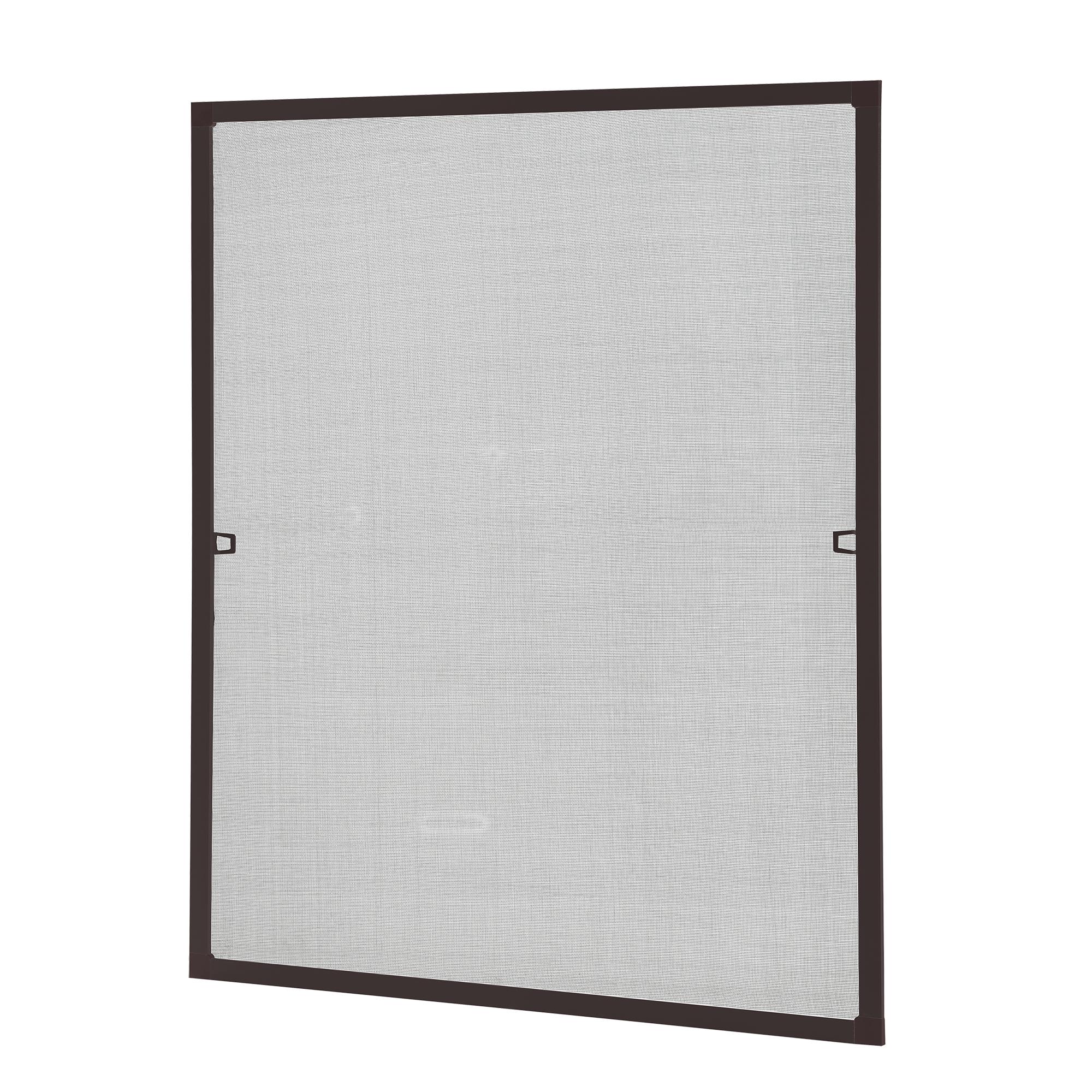 [casa.pro]® Síťka proti hmyzu 80 x 100 cm - hliníkový rám - hnědý