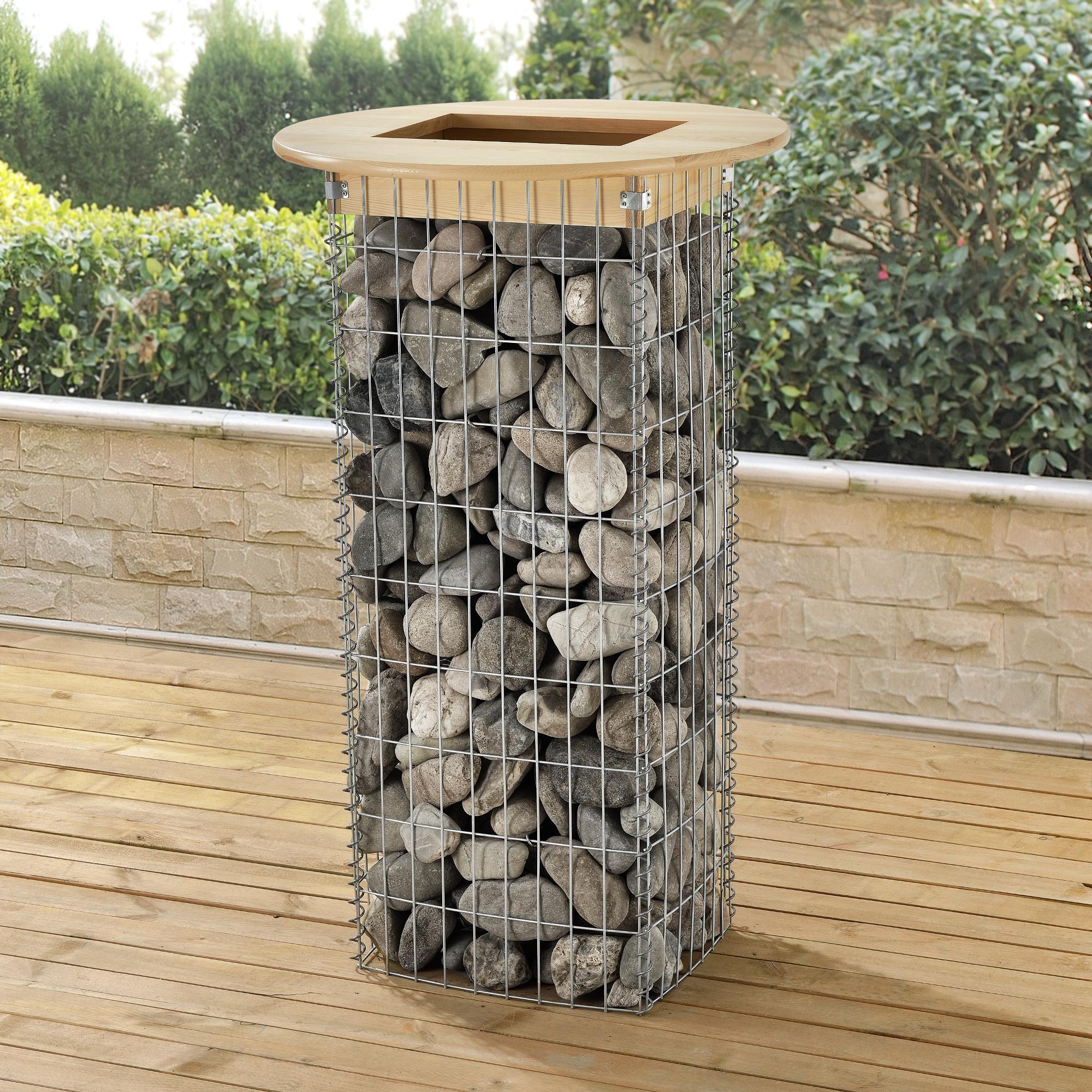 gabione 115x43x34cm steinkorb drahtkorb s ule stein gabionen eckig 4059438099526 ebay. Black Bedroom Furniture Sets. Home Design Ideas