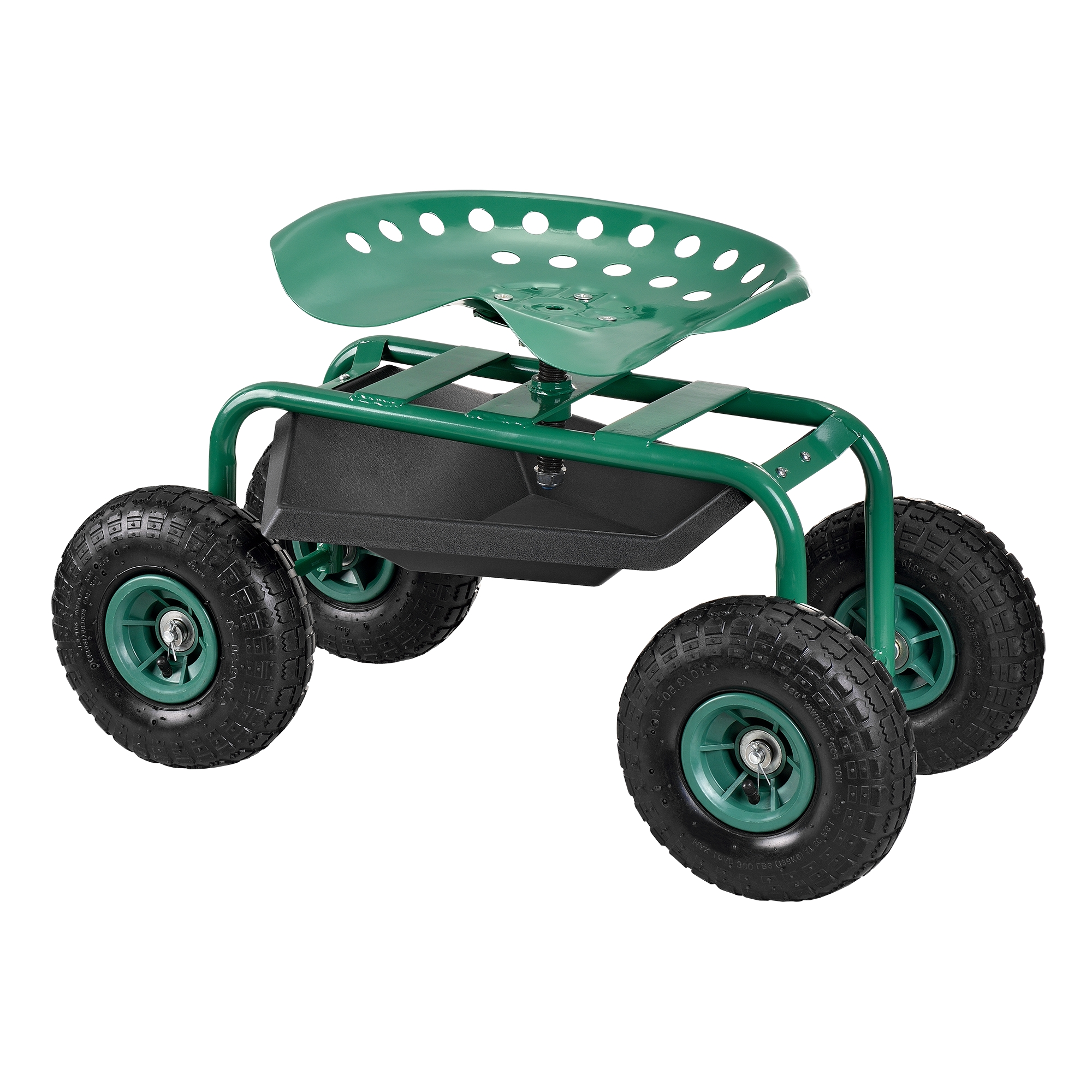 [pro.tec]® Zahradní židle s kolečky - na zahradní práce,81 x 44,5 x 54 cm,zelená