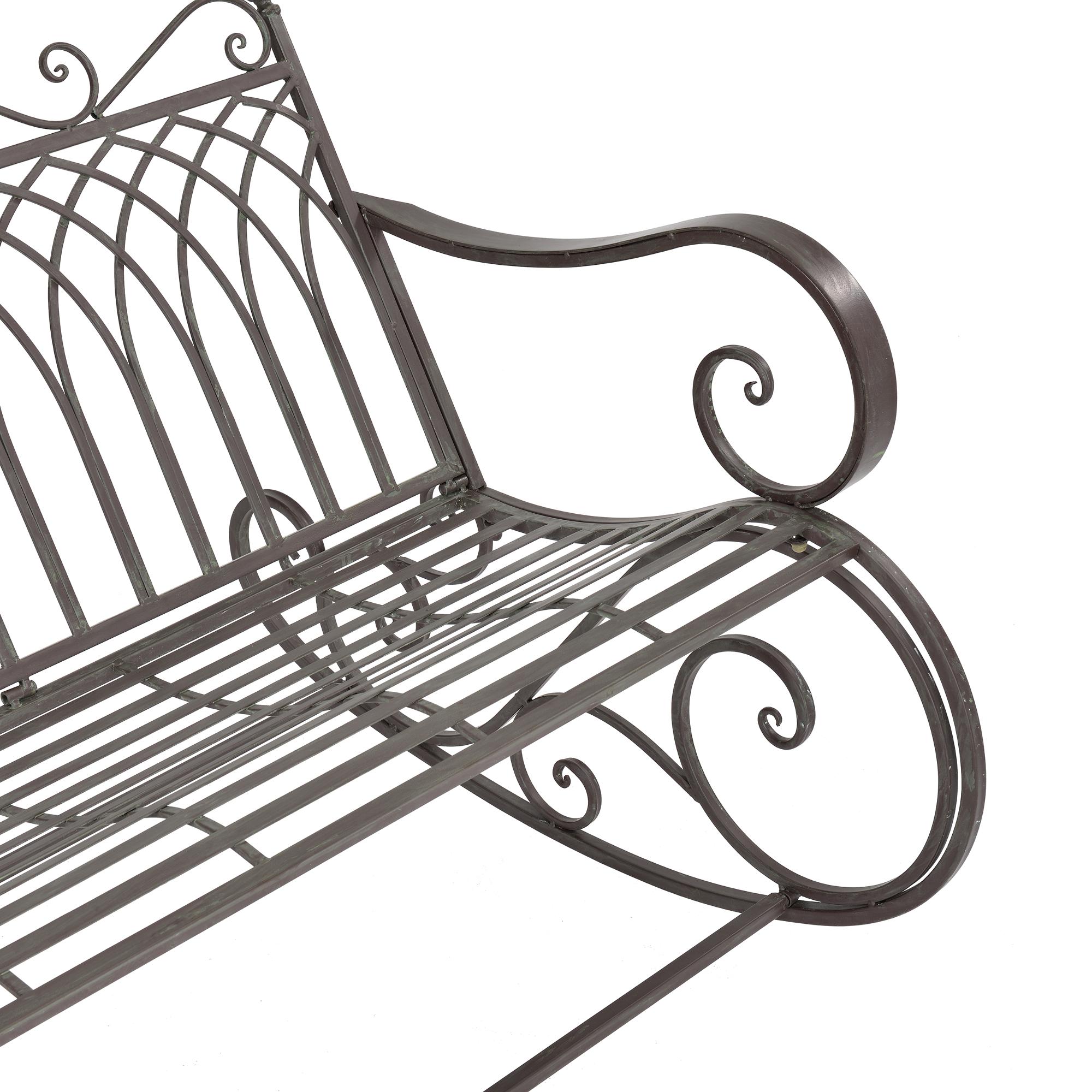 Panchina a dondolo panca da giardino metallo for Panchina a dondolo
