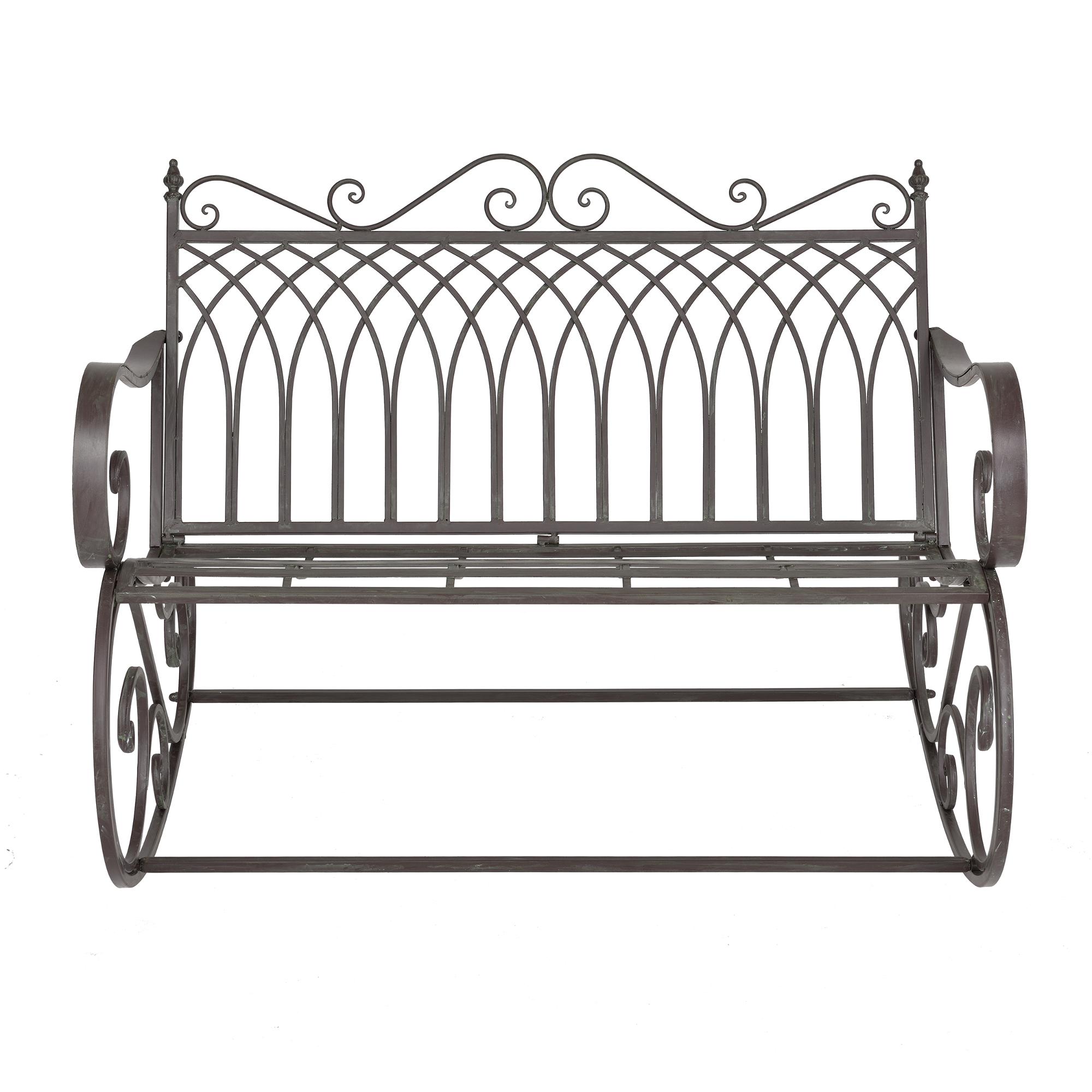 schaukelbank bank gartenbank gartenm bel metall schaukel gr n grau ebay. Black Bedroom Furniture Sets. Home Design Ideas