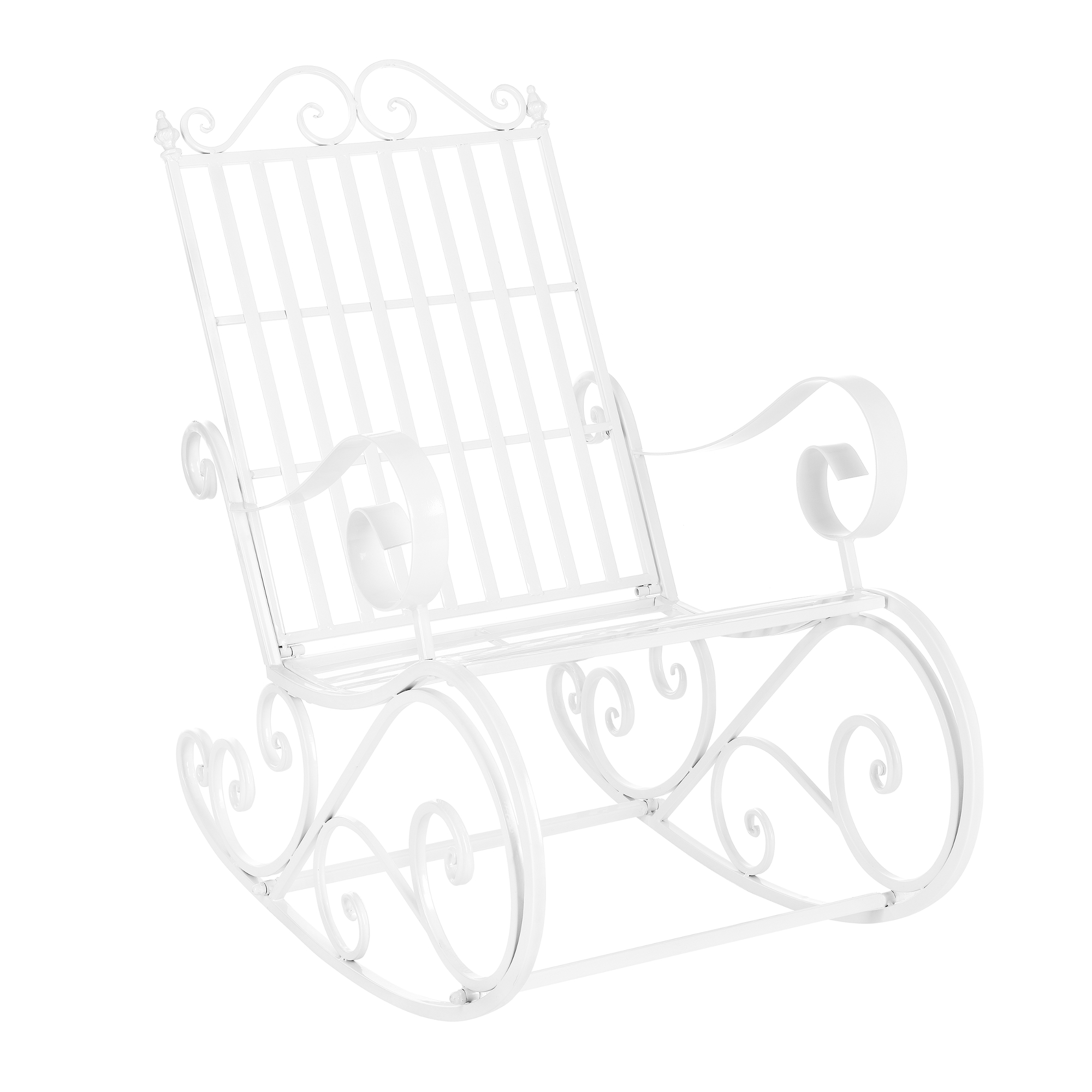 [casa.pro]® Kovové zahradní houpací křeslo,92 x 59 x 90 cm,44 cm,bilá