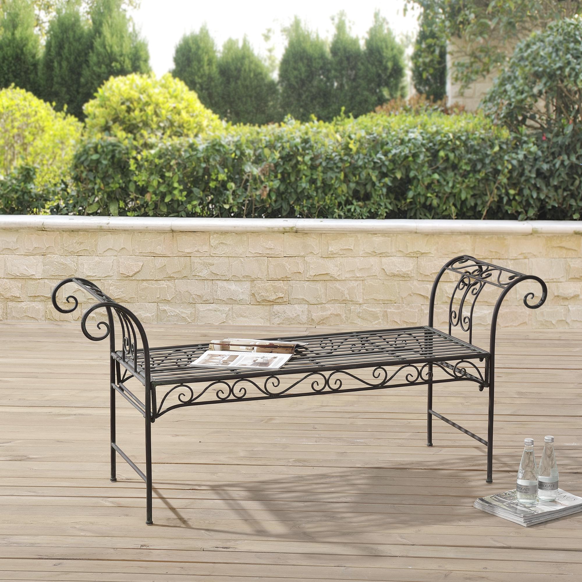 m tal banc de jardin banc banc de jardin si ge. Black Bedroom Furniture Sets. Home Design Ideas