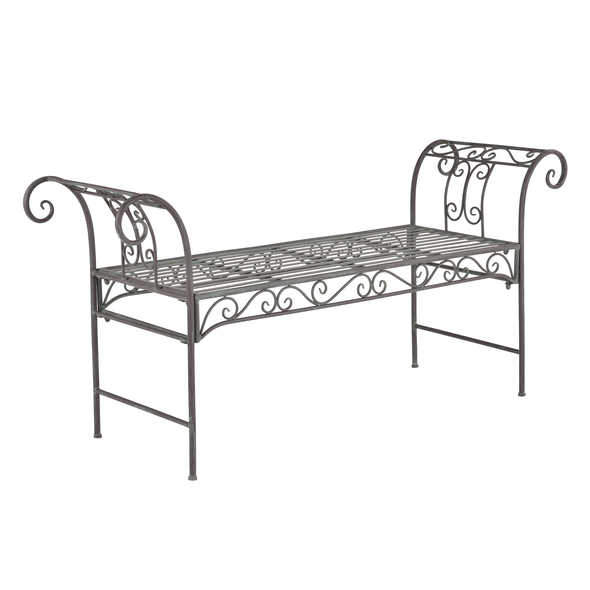 metall gartenbank bank parkbank sitzbank 70x147x46 cm eisen m bel ebay. Black Bedroom Furniture Sets. Home Design Ideas