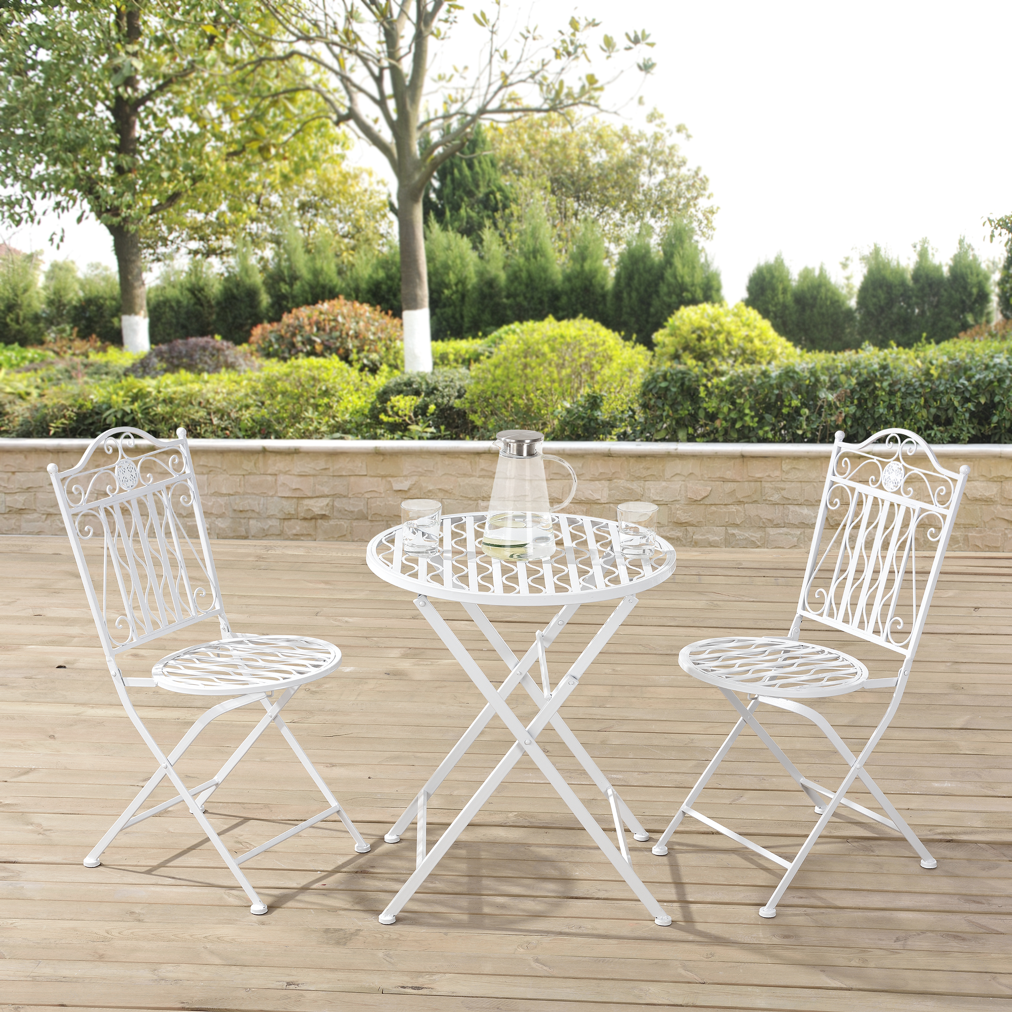 kit set de bistro table 2 chaises meuble de jardin m tal ensemble ebay. Black Bedroom Furniture Sets. Home Design Ideas