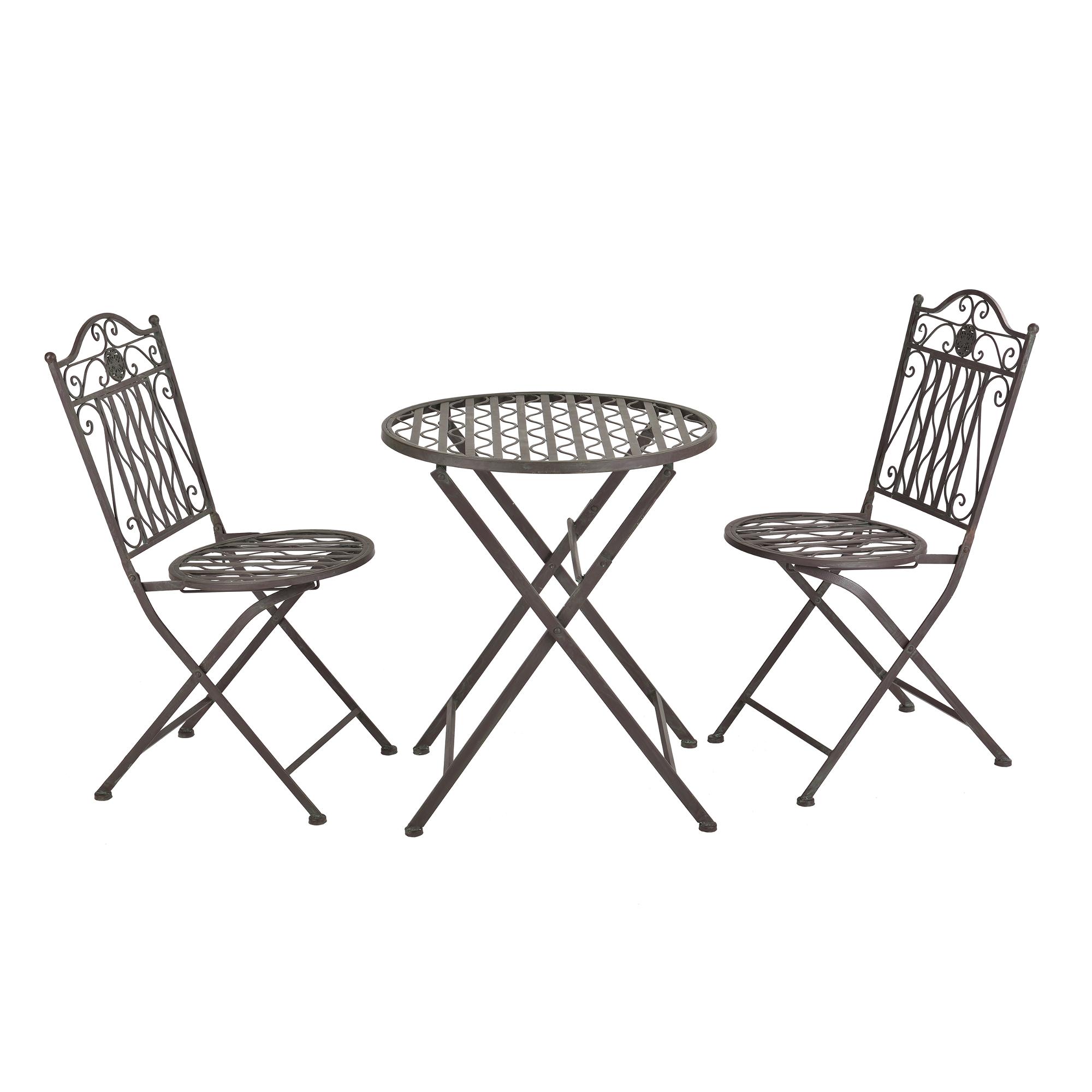 bistro set tisch 2 st hle essgruppe sitzgruppe gartenm bel metall. Black Bedroom Furniture Sets. Home Design Ideas