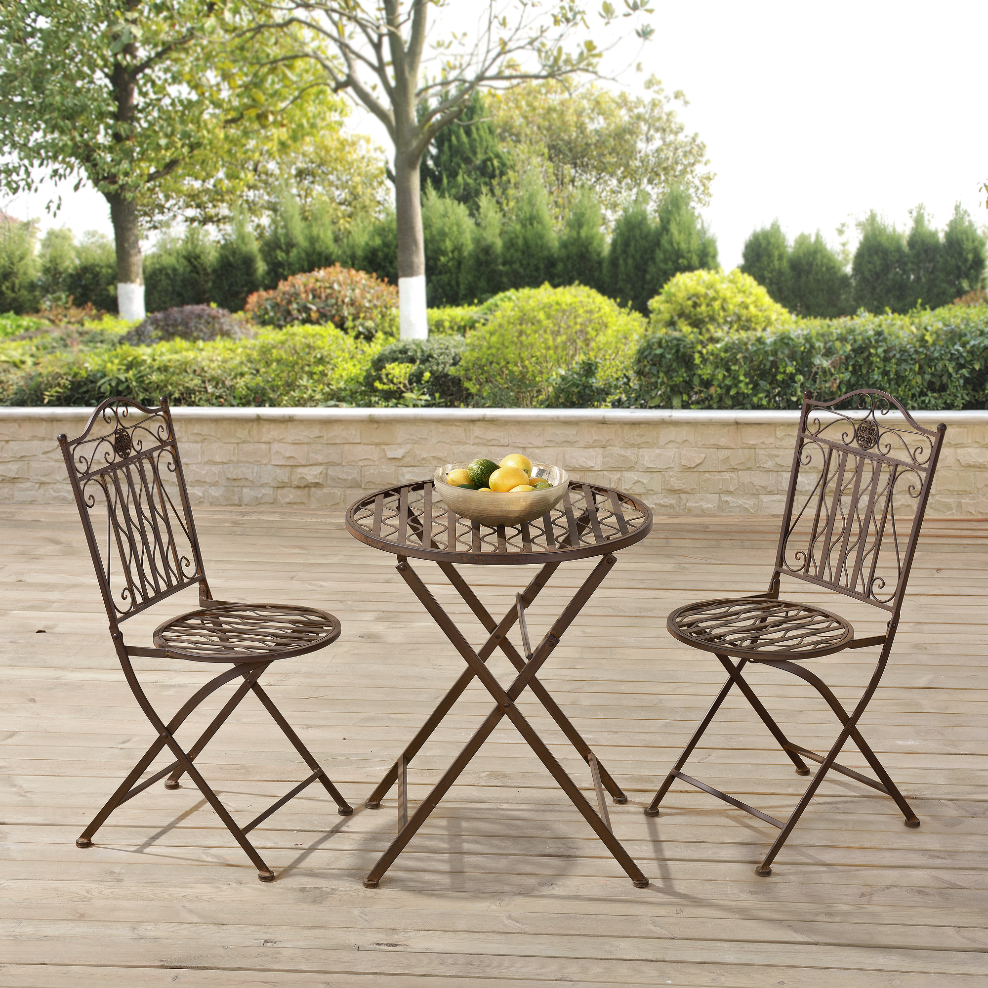 bistro set tisch 2 st hle essgruppe sitzgruppe gartenm bel metall ebay. Black Bedroom Furniture Sets. Home Design Ideas