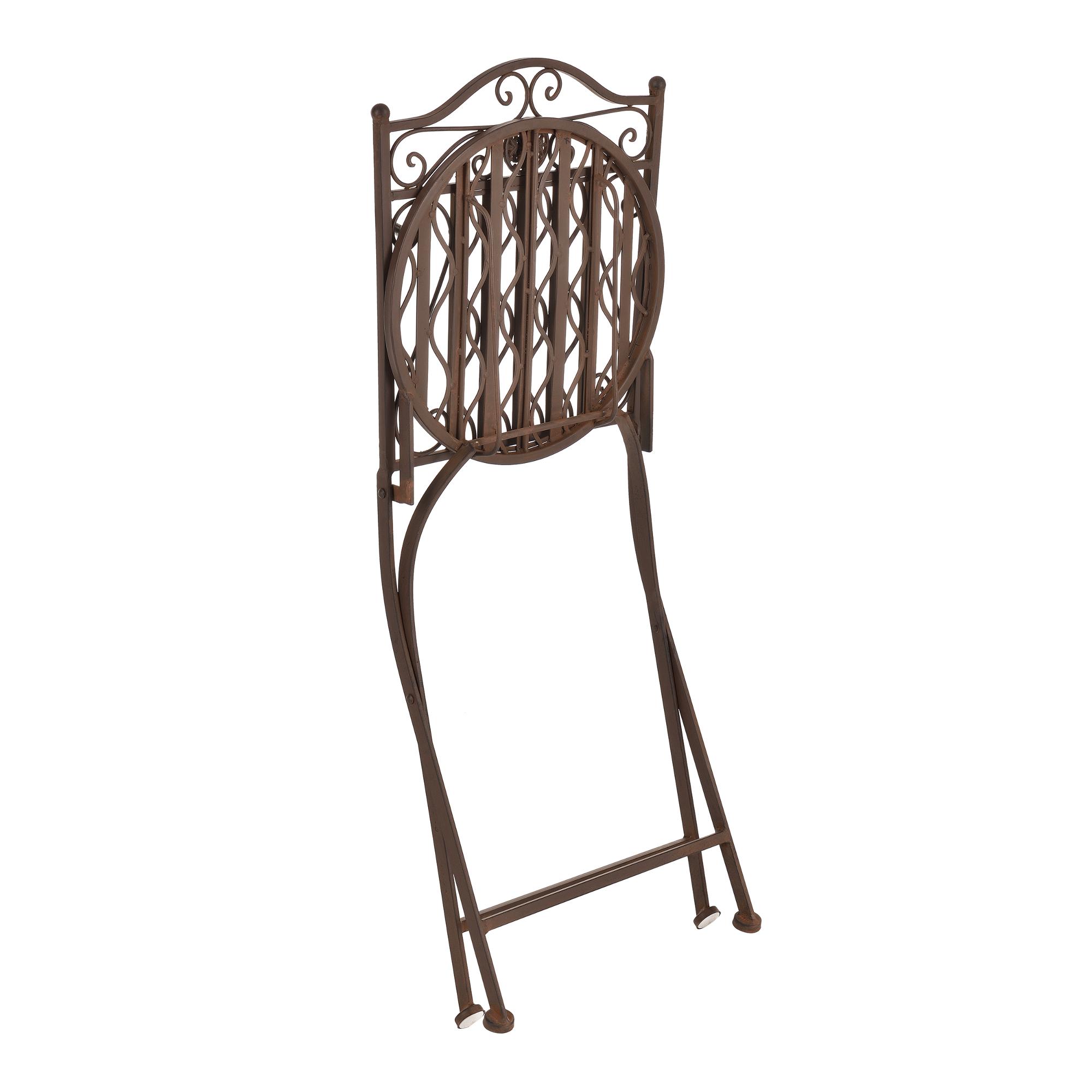 Set bistro tavolo con 2 sedie mobili giardino for Mobili da giardino metallo