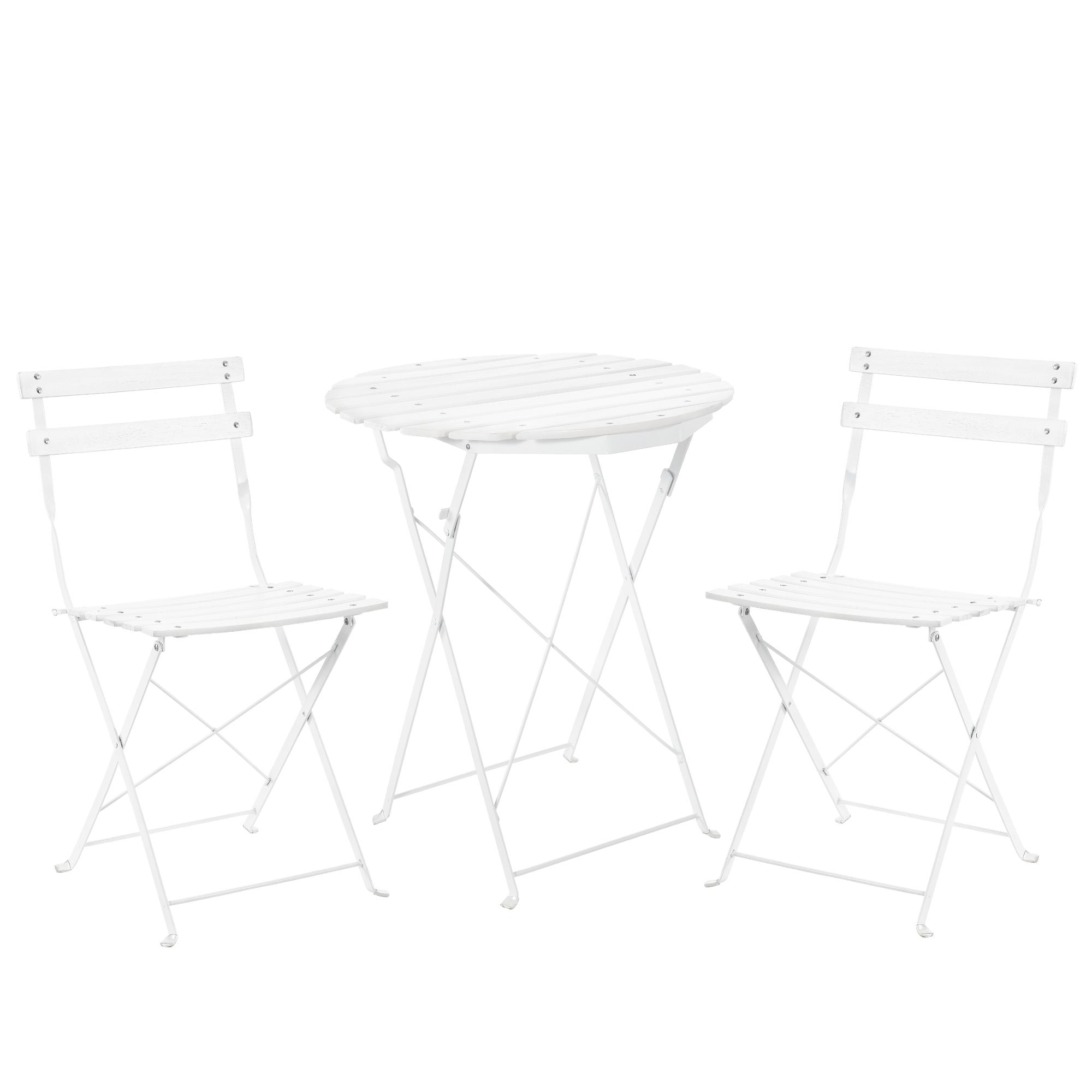 casa.pro]® Bistro Set Tisch 2 Stühle Essgruppe Sitzgruppe ...