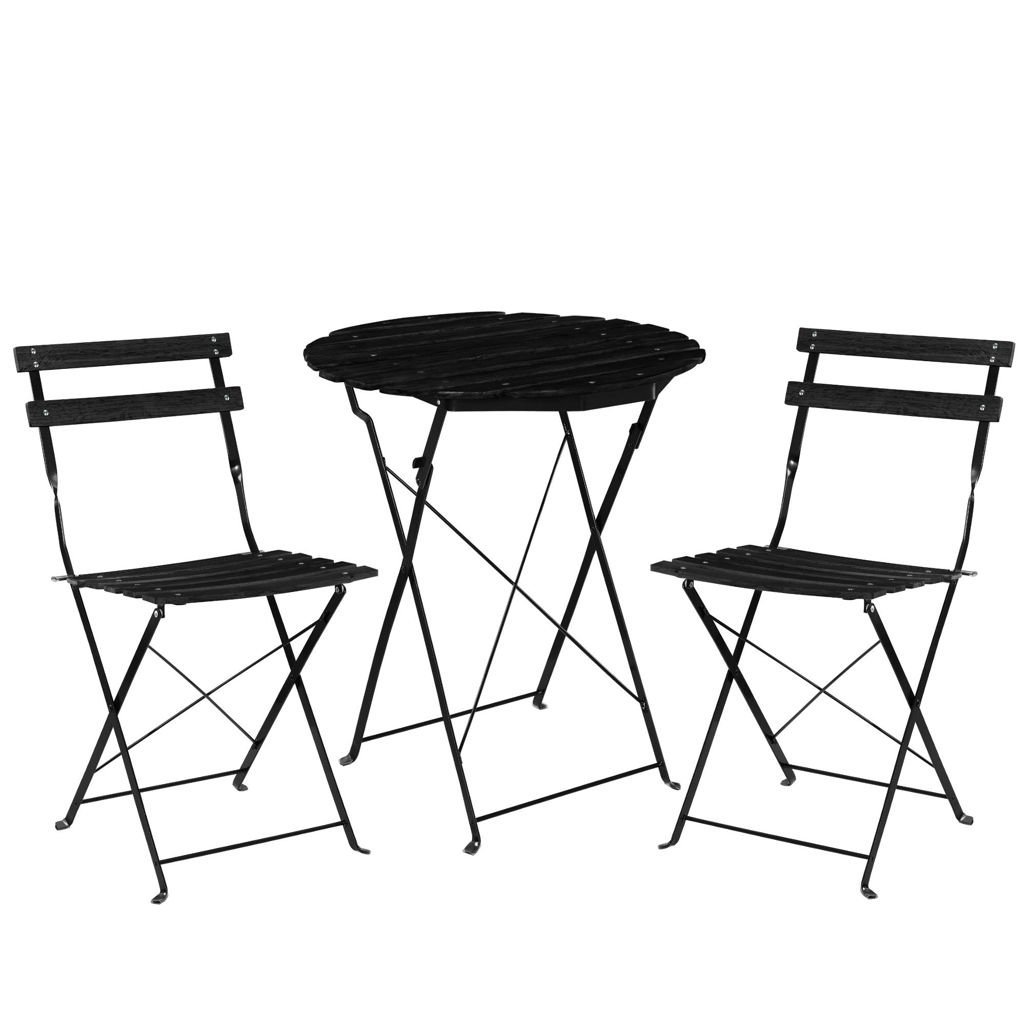 casa pro bistro set de table 2 chaises salle salon mobilier de jardin balcon ebay. Black Bedroom Furniture Sets. Home Design Ideas