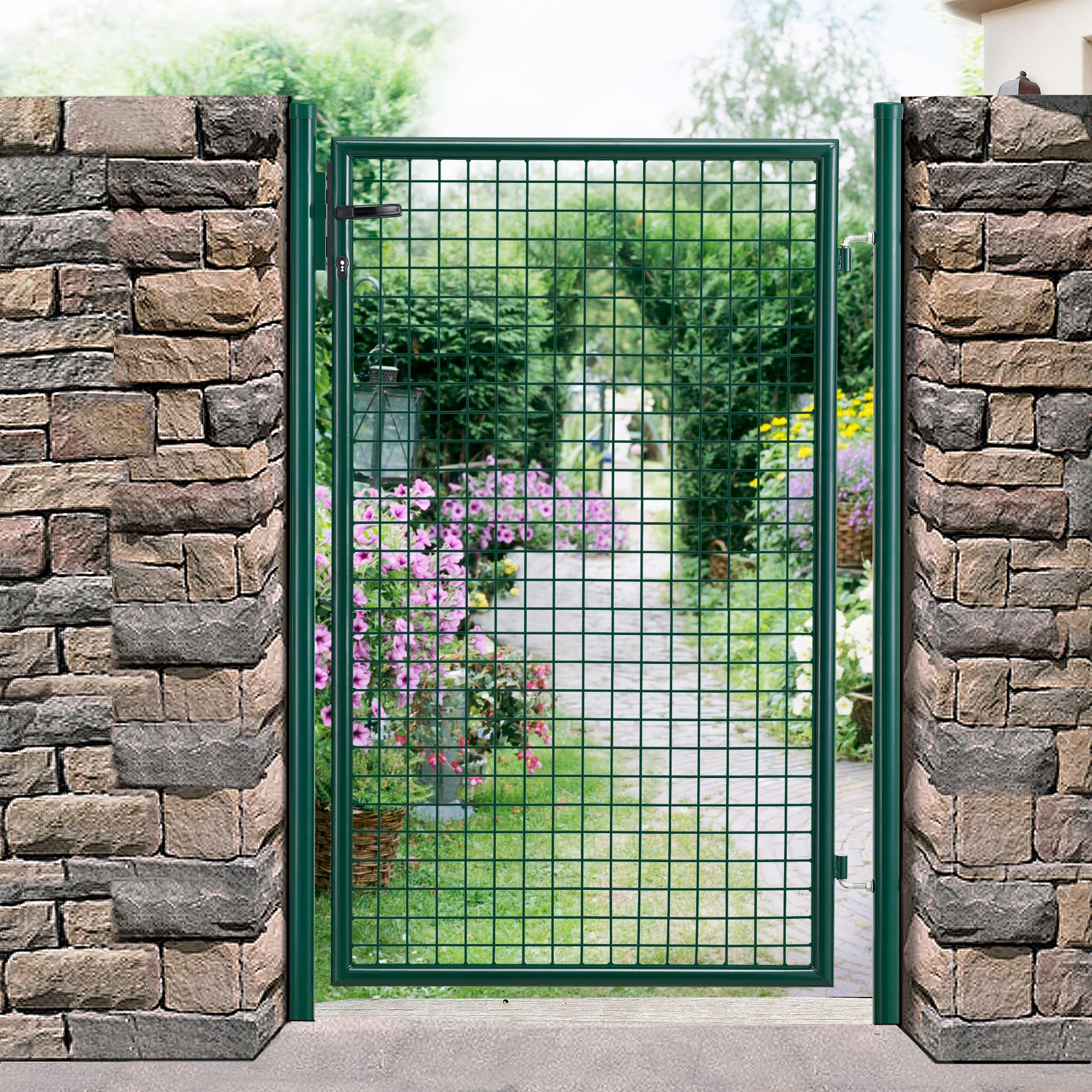 Gartent r gr n gartentor zaunt r gartenpforte - Puertas metalicas jardin ...