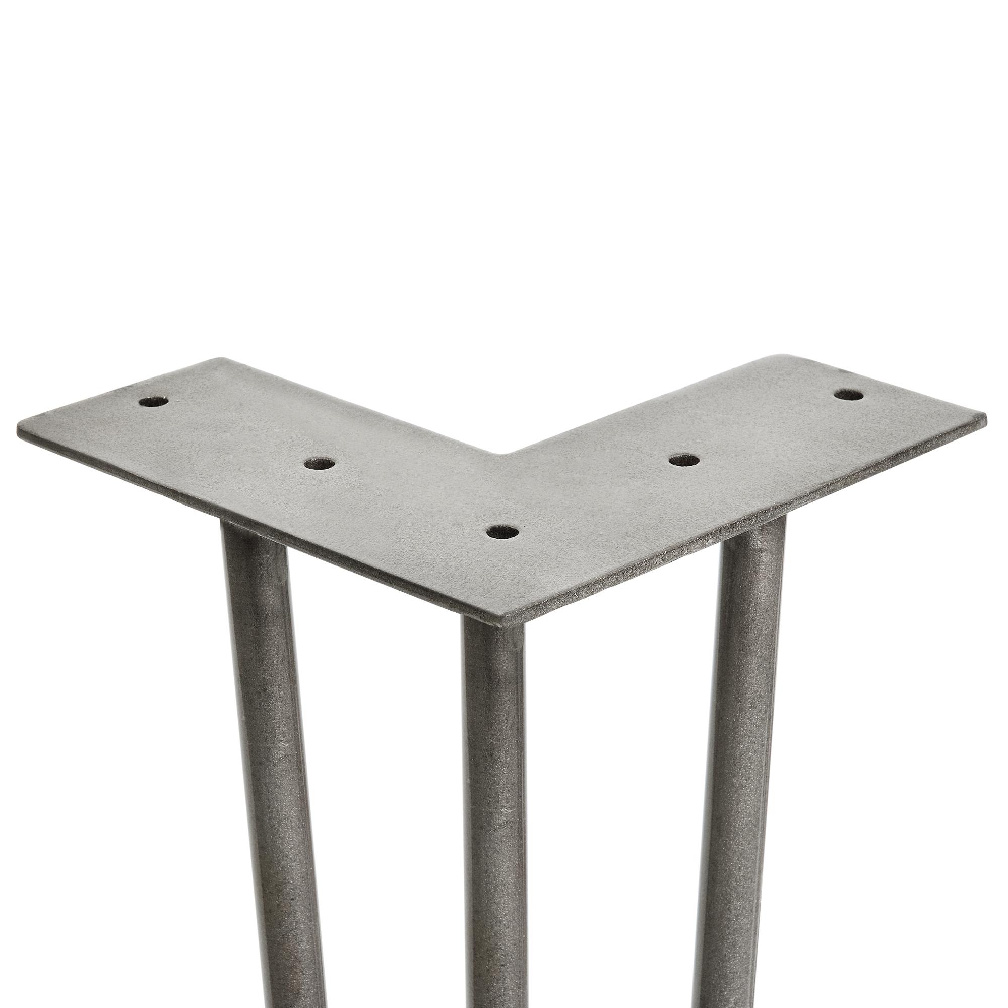 en.casa]® 4x Hairpin Leg gambe tavolo metallo DIY 35cm acciaio ...