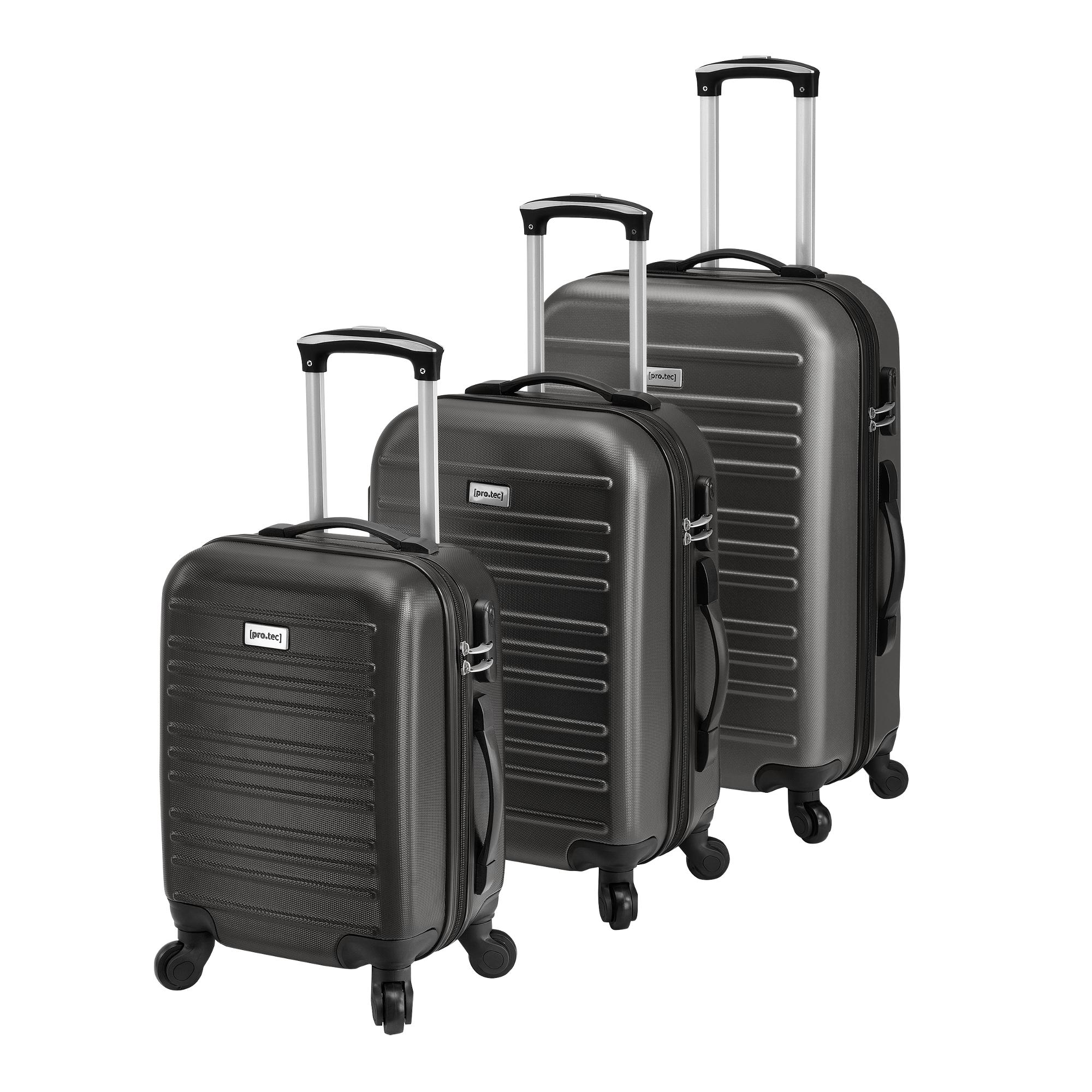[pro.tec]® Sada 3 cestovních kufrů AALG-5301