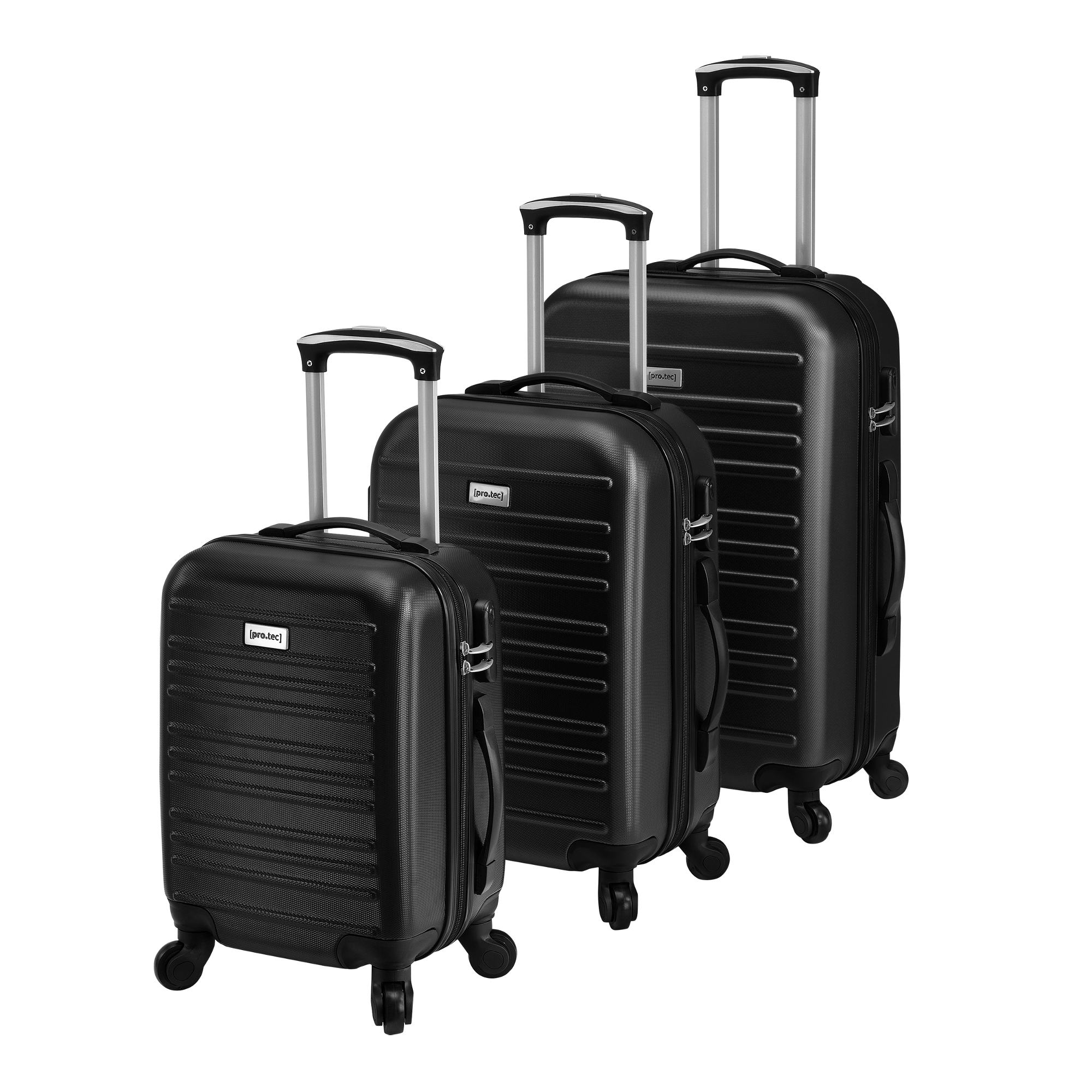 [pro.tec]® Sada 3 cestovních kufrů AALG-5302