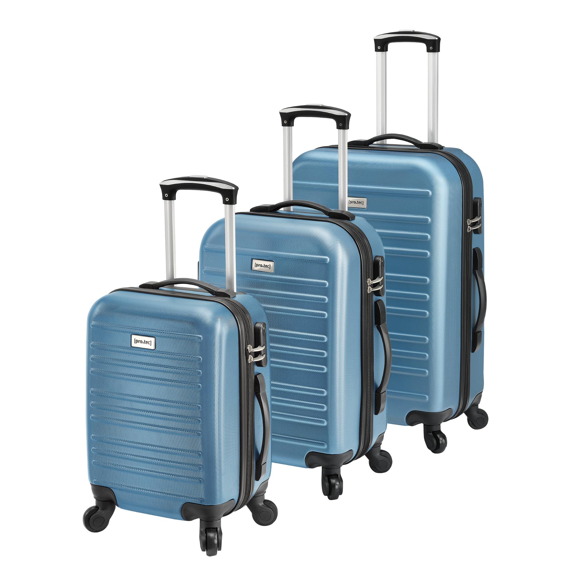 [pro.tec]® Sada 3 cestovních kufrů AALG-5303