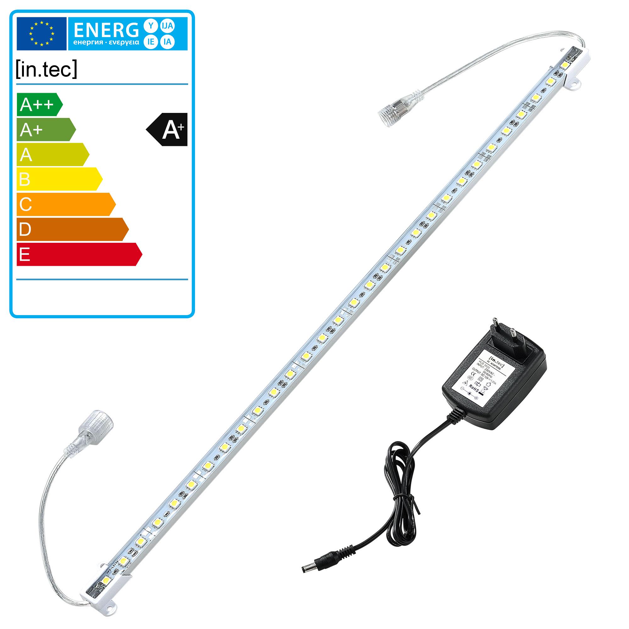 100cm Alu RGB LED Lichtleiste Fernbedienung Unterbauleuchte Leiste SMD