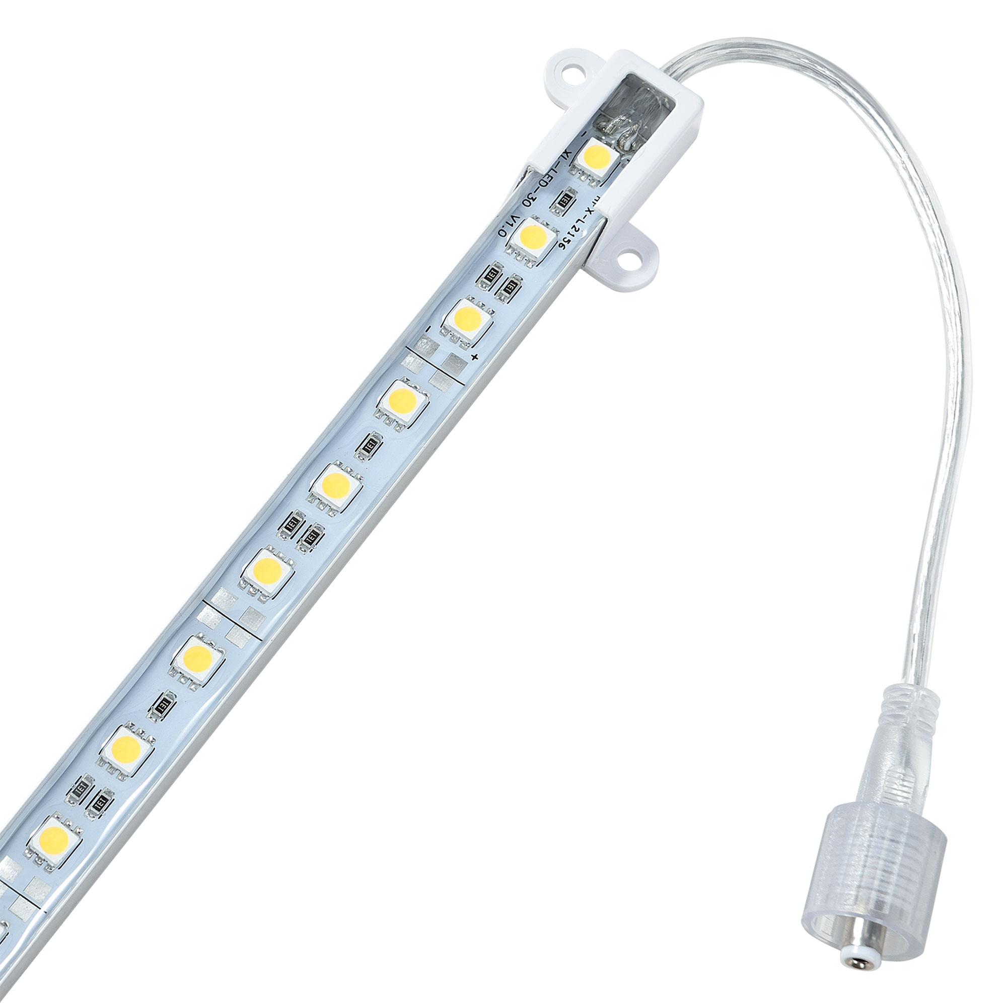 2x100cm alluminio led barra luminosa alimentatore - Barra led bagno ...