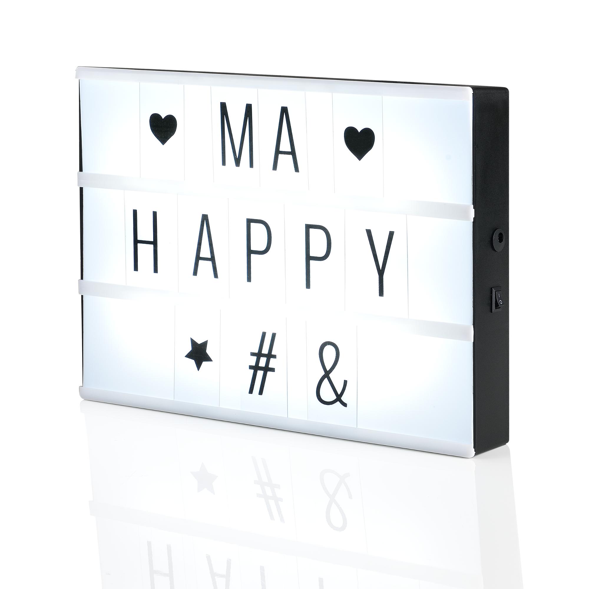 led leucht kasten lichtbox leuchtschild kino leuchte deko lichttafel a4 4251155587823. Black Bedroom Furniture Sets. Home Design Ideas