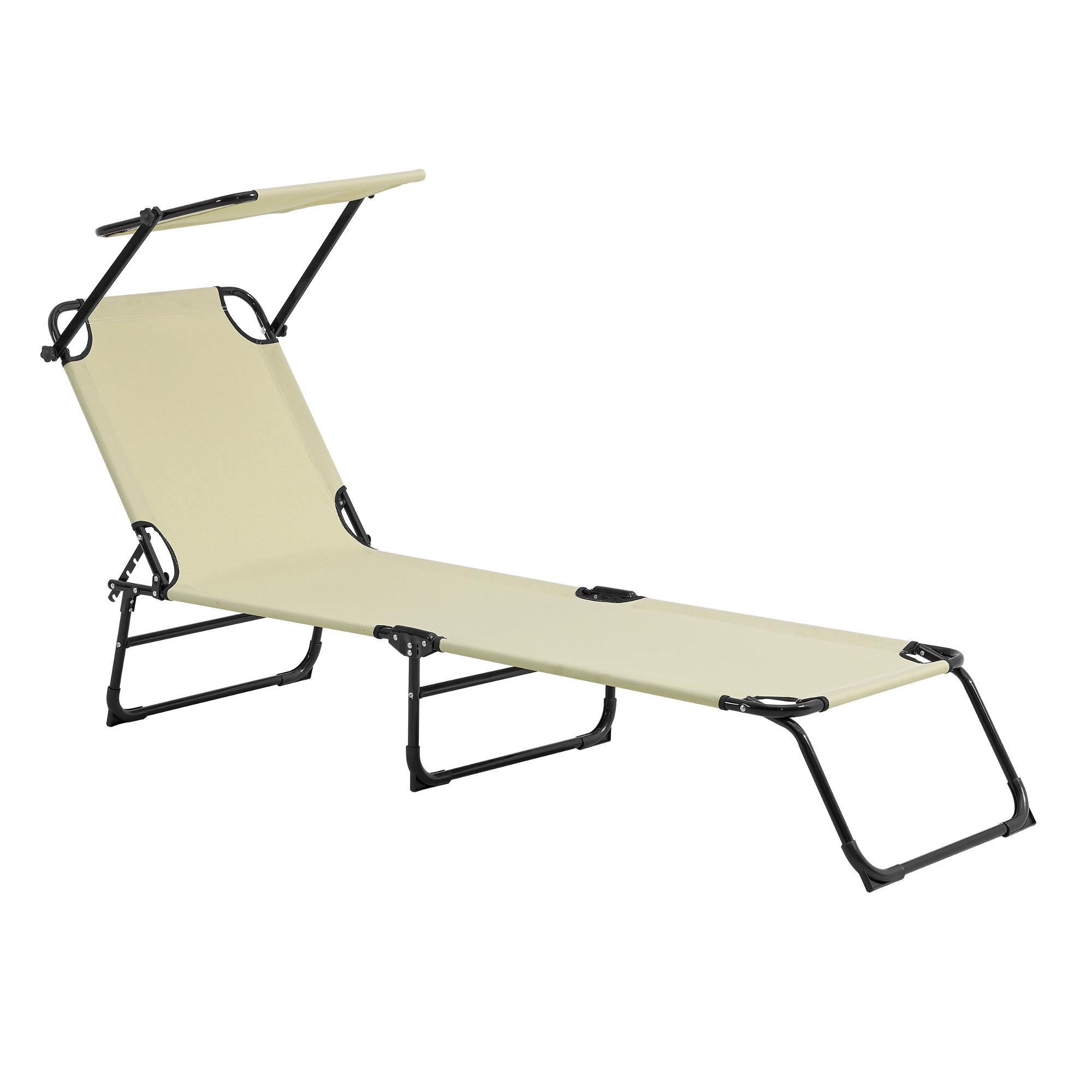 sonnenliege 190cm mit sonnendach gartenliege. Black Bedroom Furniture Sets. Home Design Ideas