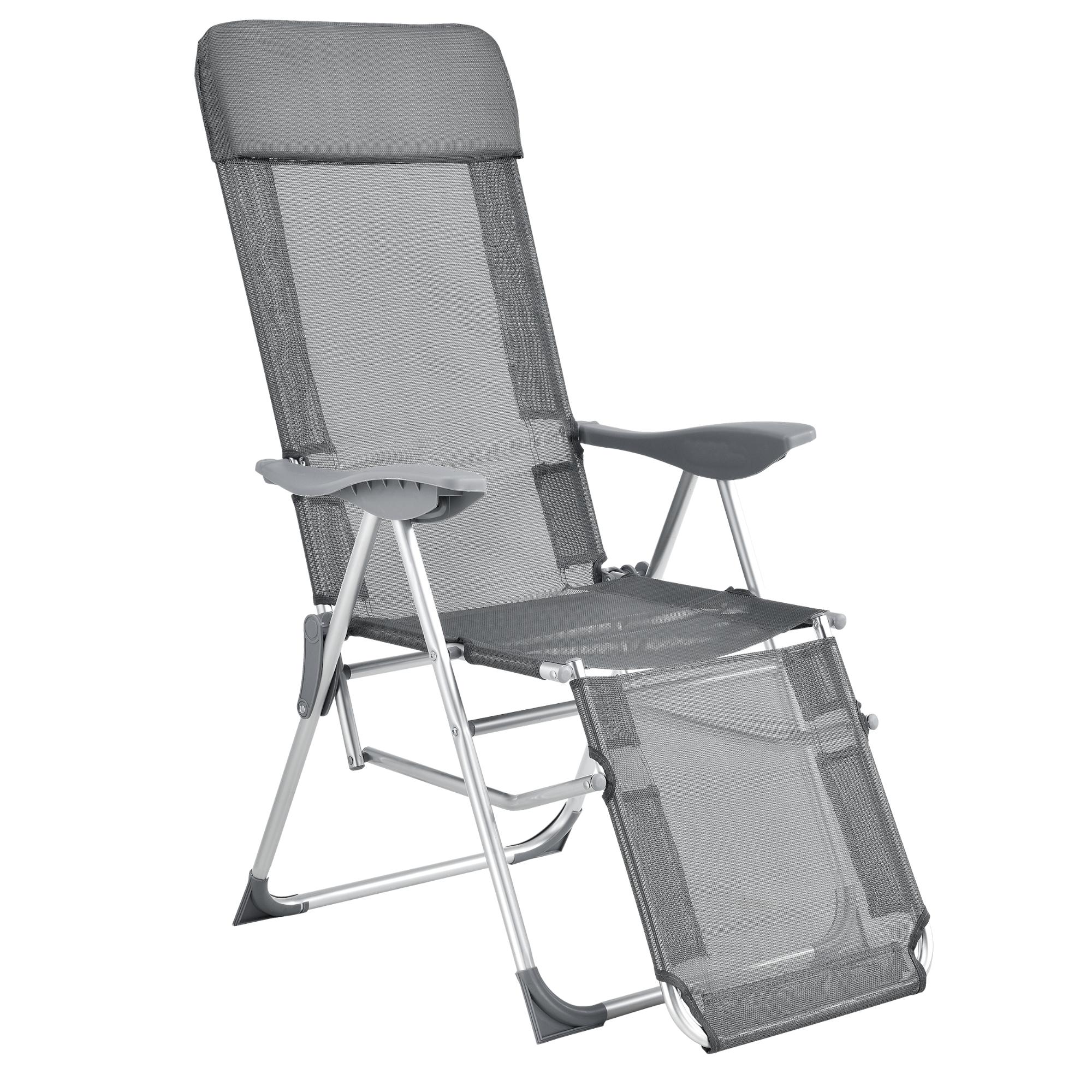 SEDIA SDRAIO RELAX Sedia da campeggio lettino da giardino lettino prendisole sedia GRIGIO CASA. Pro