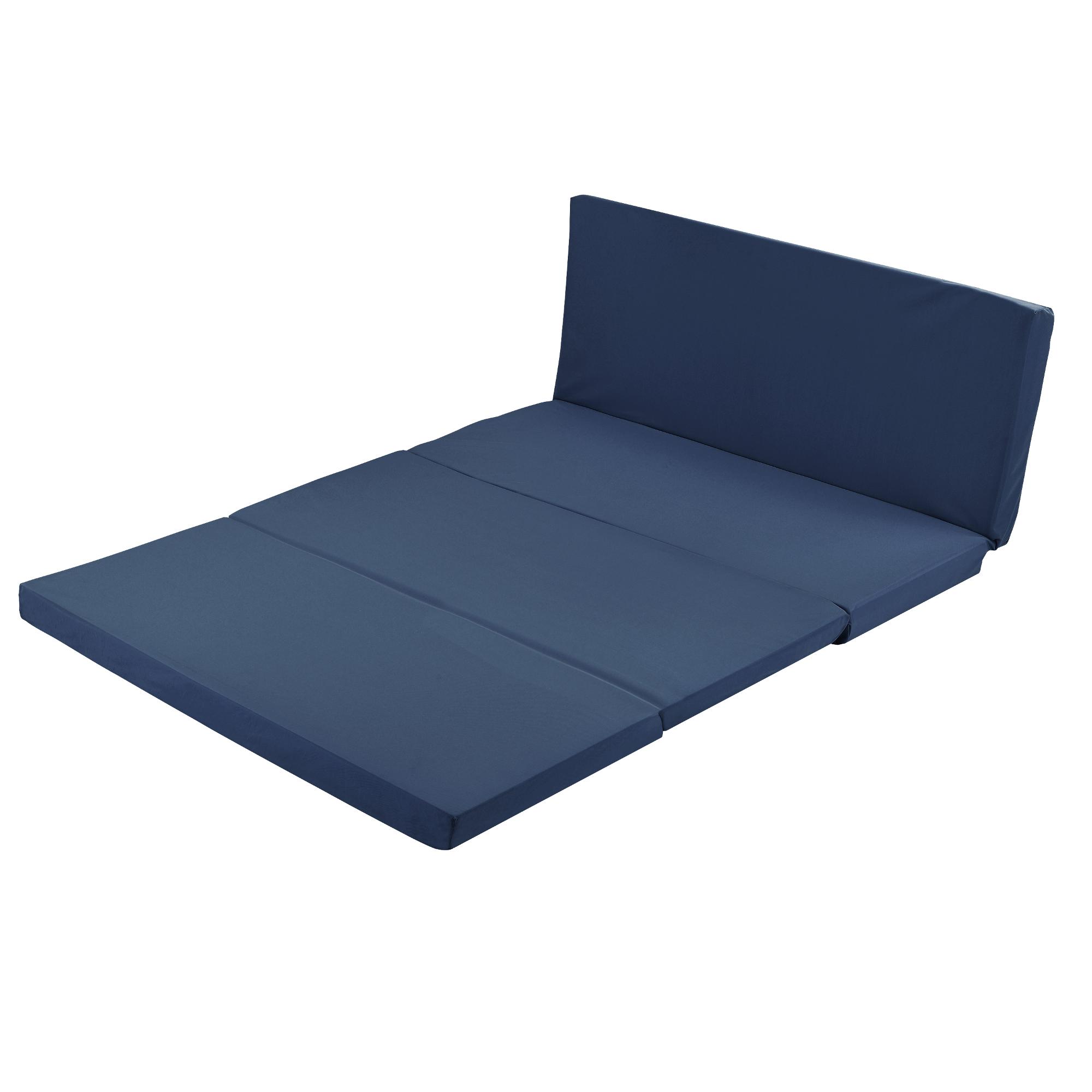 klappmatratze 190x120cm blau faltmatratze. Black Bedroom Furniture Sets. Home Design Ideas