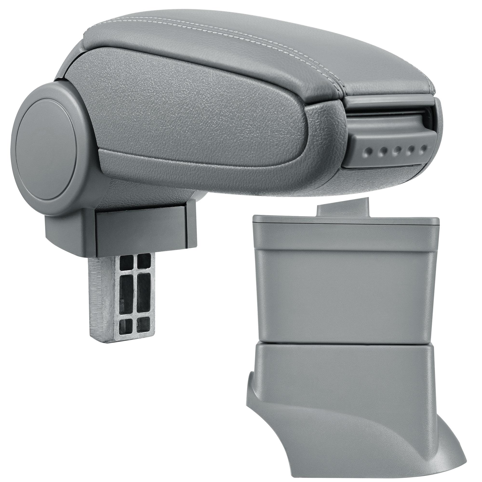 Středová loketní opěrka - vhodná pro: Fiat 500 (Rok výroby od 2007) - umělá kůže - Šedá